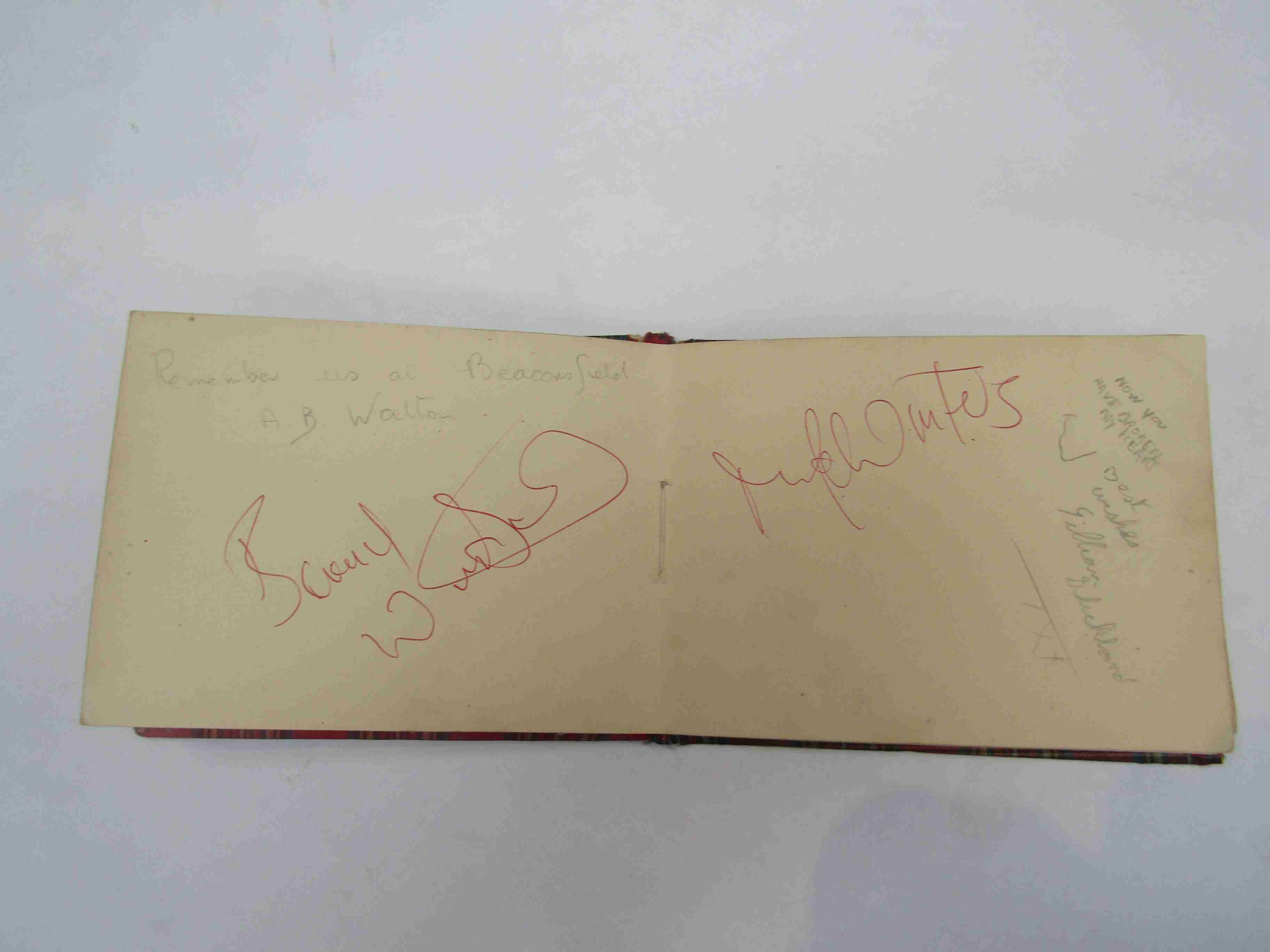 Two 1950s/60s autograph books containing autographs by Benny Hill, Honor Blackman, Barbara Shelley, - Image 21 of 34