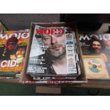 Thirty issues of Mojo magazine and twenty five issues of The Word magazine