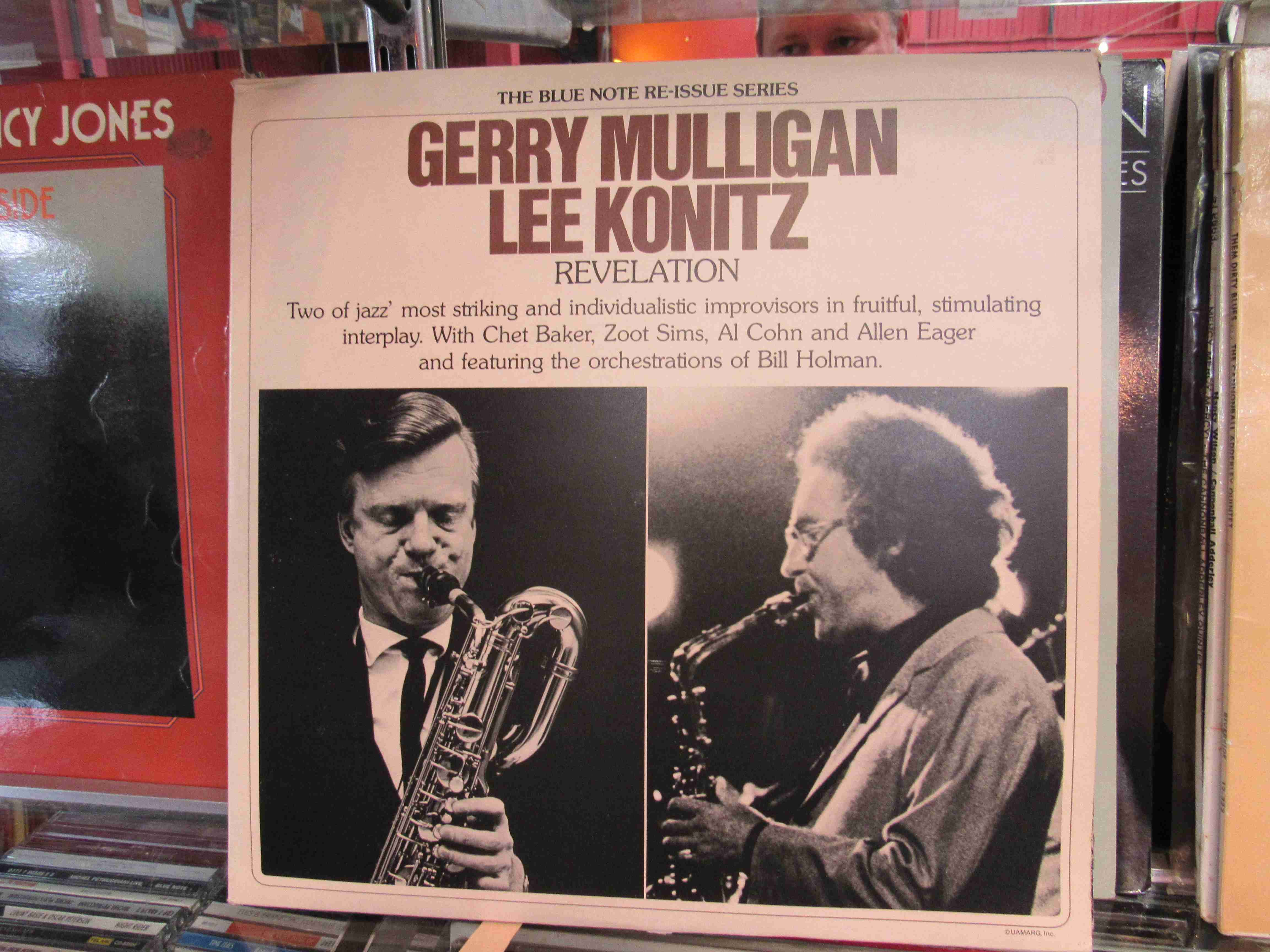 GERRY MULLIGAN: Eight LP's to include 'Revelation' (with Lee Konitz) BND 4016,