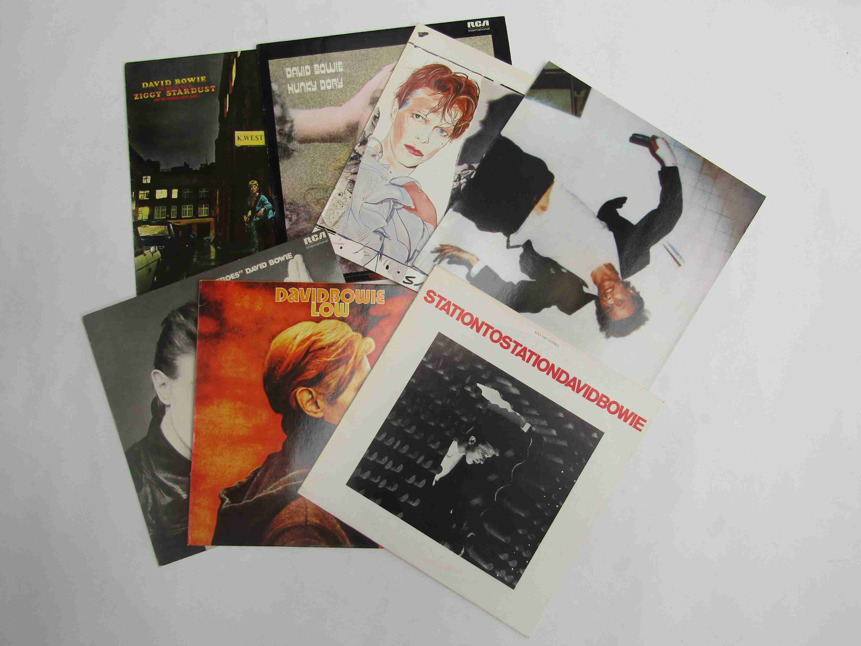 DAVID BOWIE: Seven LP's to include 'Hunky Dory', 'Ziggy Stardust And The Spiders From Mars',