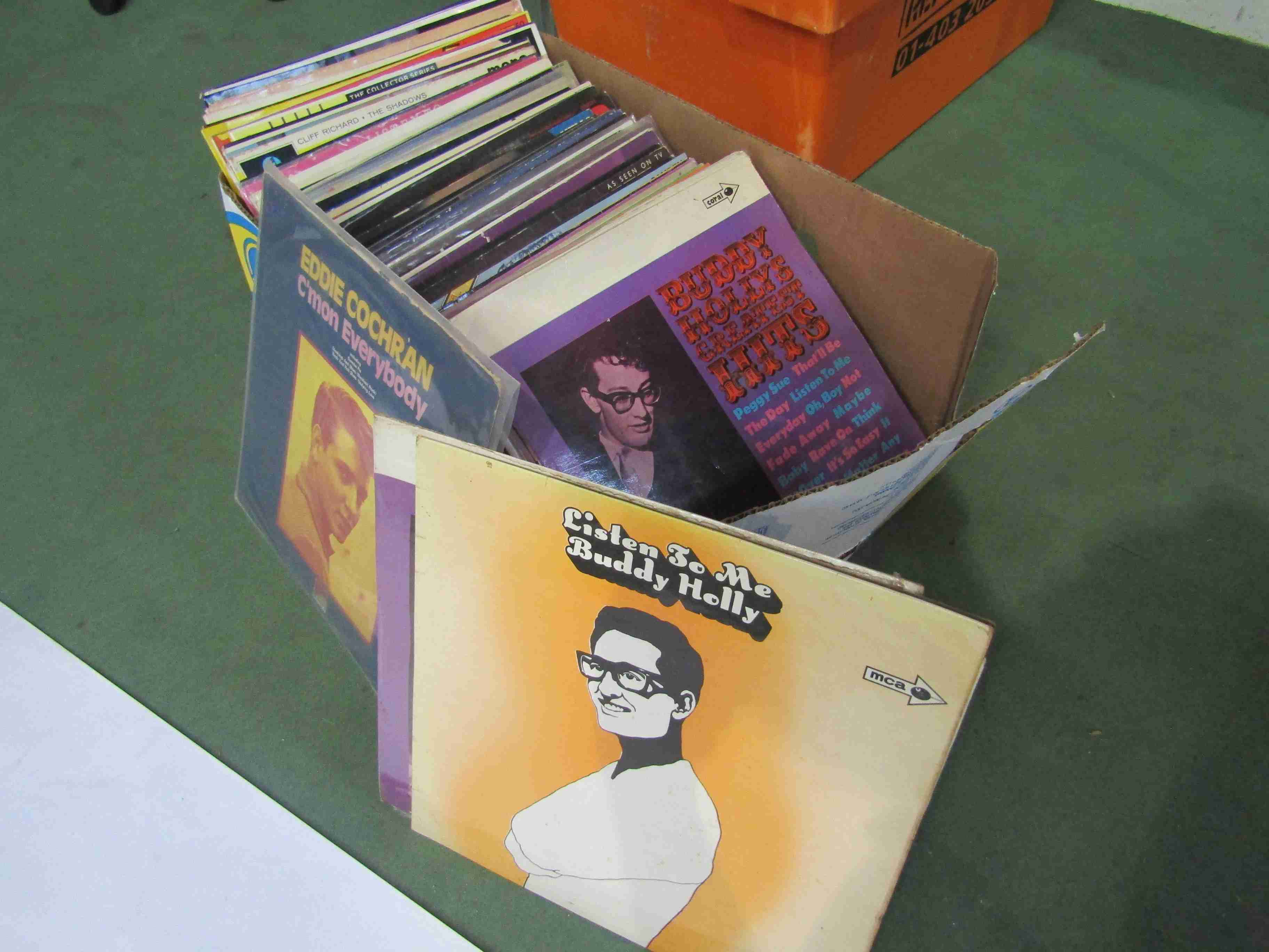 A collection of approximately 80 predominantly Rock N Roll LP's including Elvis Presley,