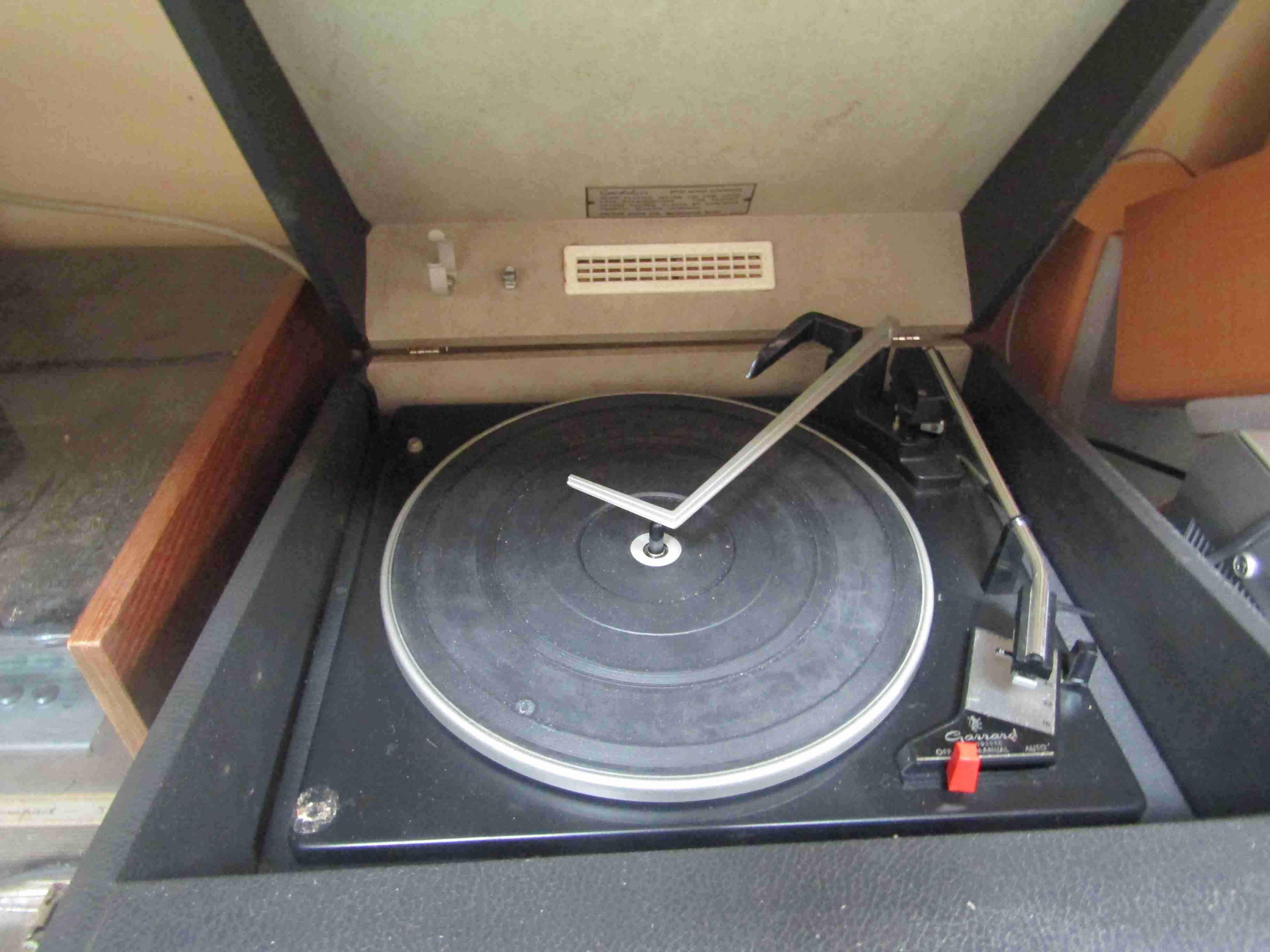A vintage Hacker portable record player - Image 2 of 2