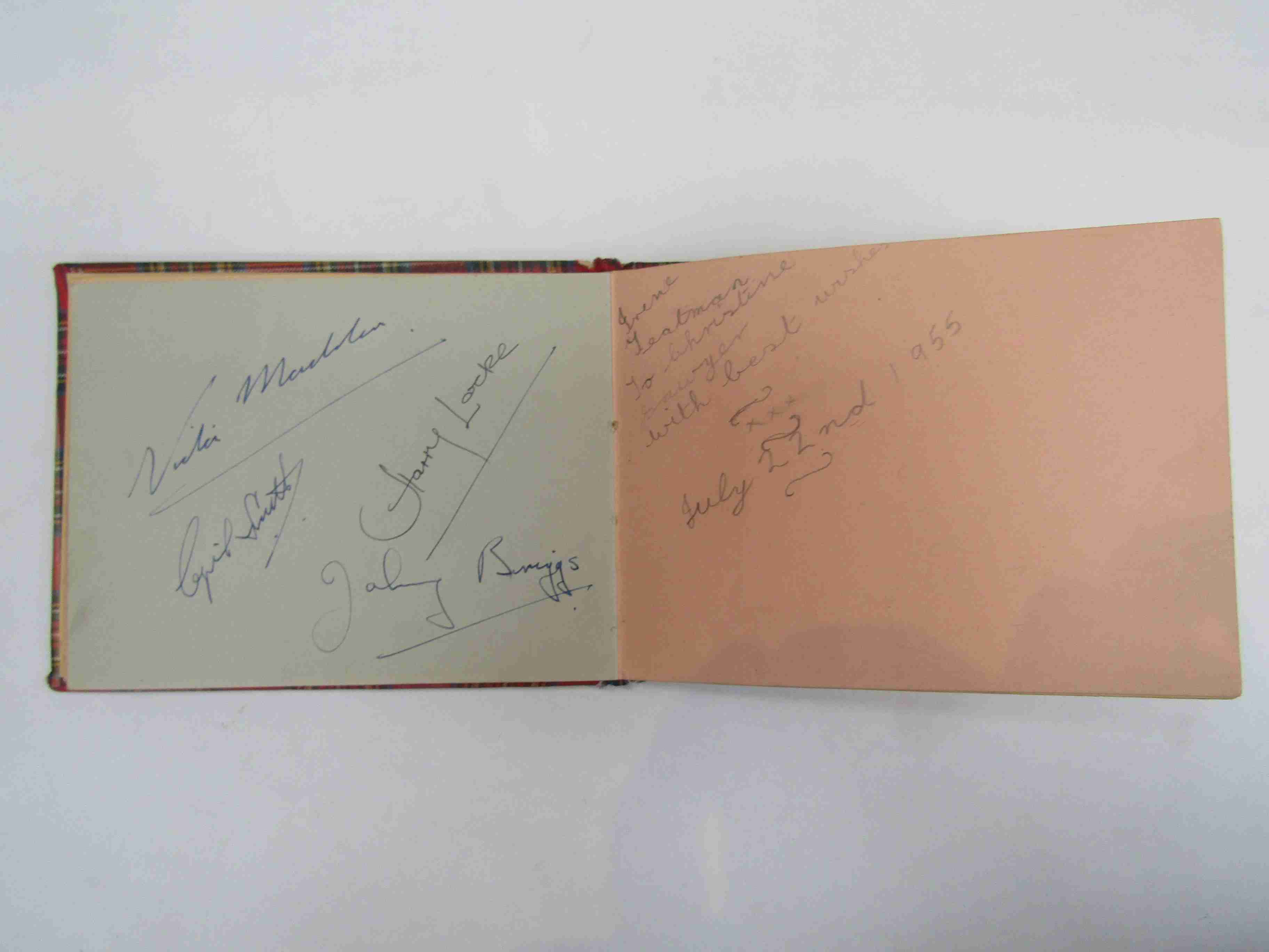 Two 1950s/60s autograph books containing autographs by Benny Hill, Honor Blackman, Barbara Shelley, - Image 12 of 34