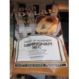 A large Bob Dylan Birmingham NEC Never Ending Tour poster, approx.