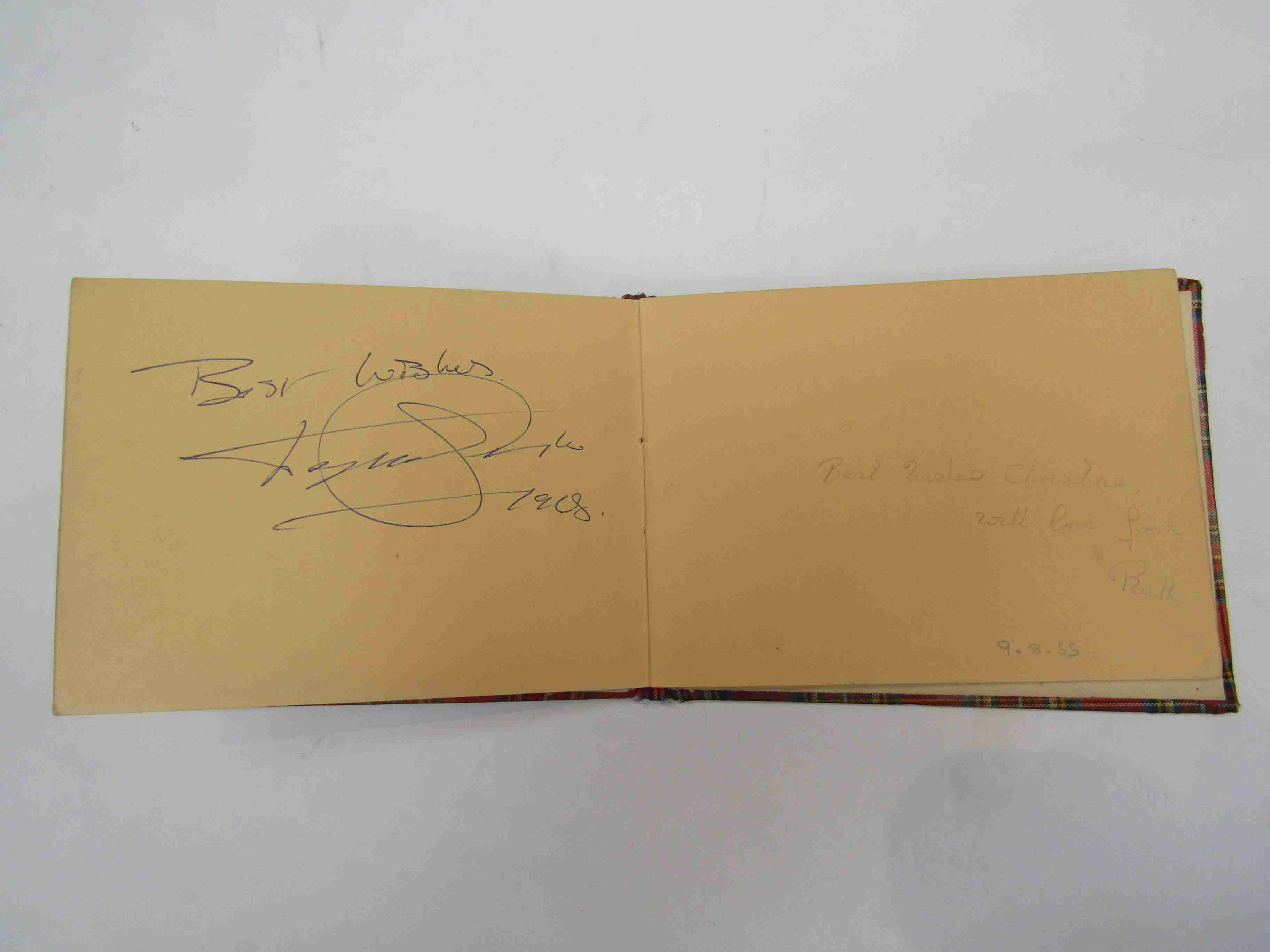 Two 1950s/60s autograph books containing autographs by Benny Hill, Honor Blackman, Barbara Shelley, - Image 28 of 34