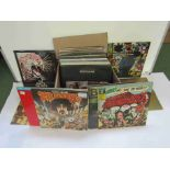 A box of mixed LPs including Frank Zappa, BB King, Peter Green, Dire Straits, Focus, Dave Edmunds,