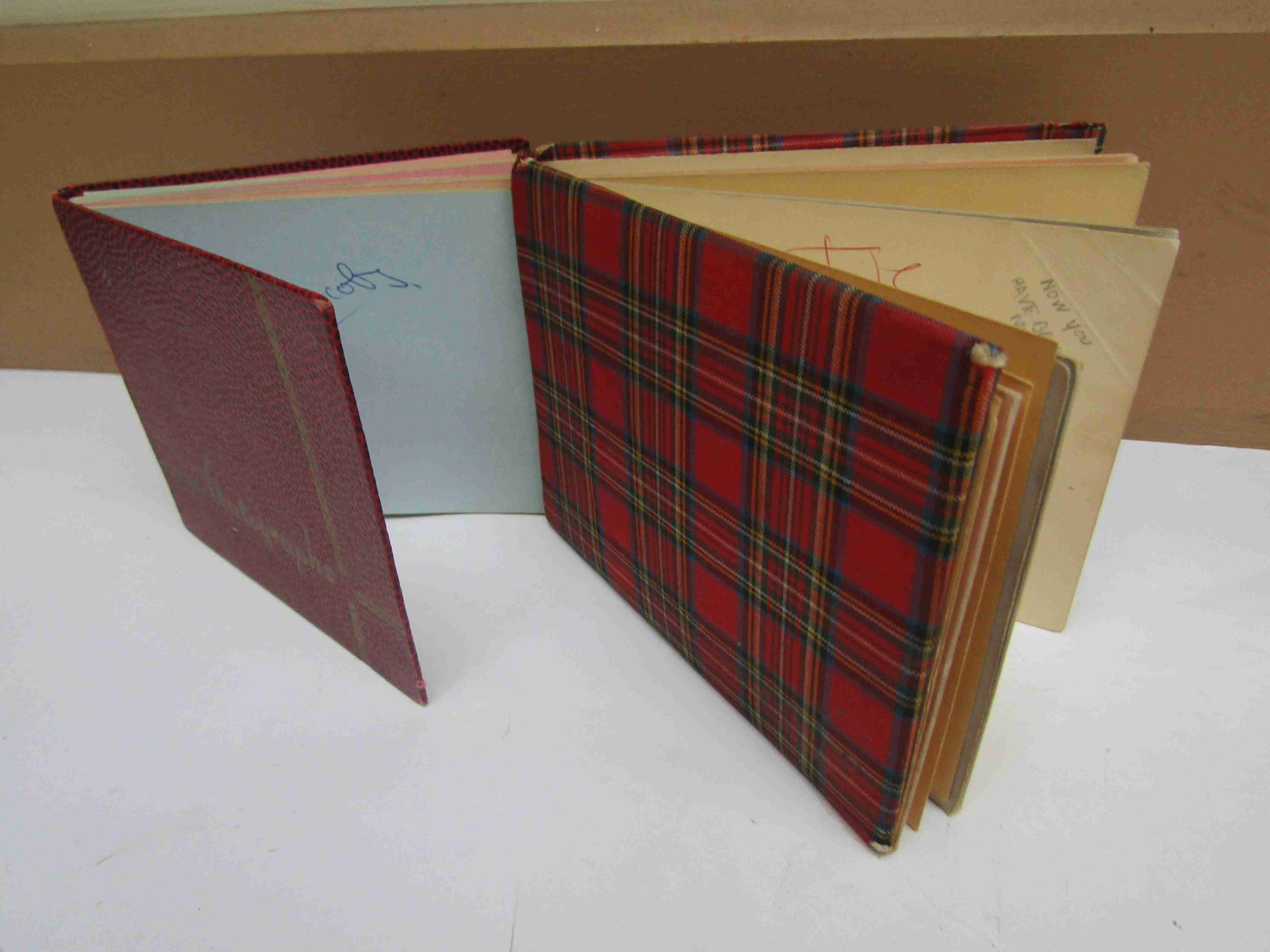 Two 1950s/60s autograph books containing autographs by Benny Hill, Honor Blackman, Barbara Shelley,