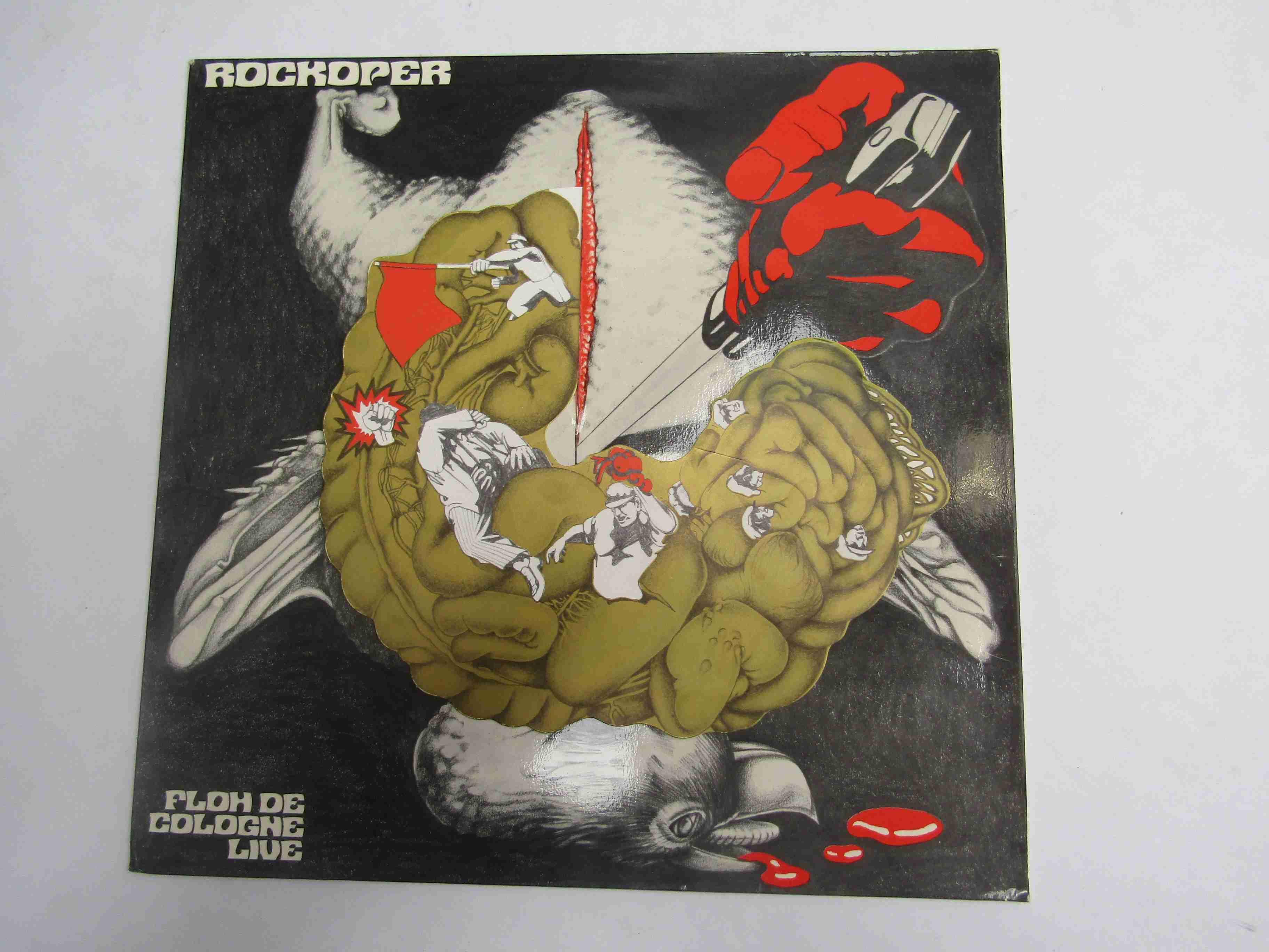 FLOH DE COLOGNE: 'Rockoper Profitgeier' LP on pink vinyl, Ohr OMM 556010 (media VG+/EX, - Image 2 of 2