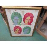 A framed and glazed Pietro Psaier Factory Proof print of John Lennon,