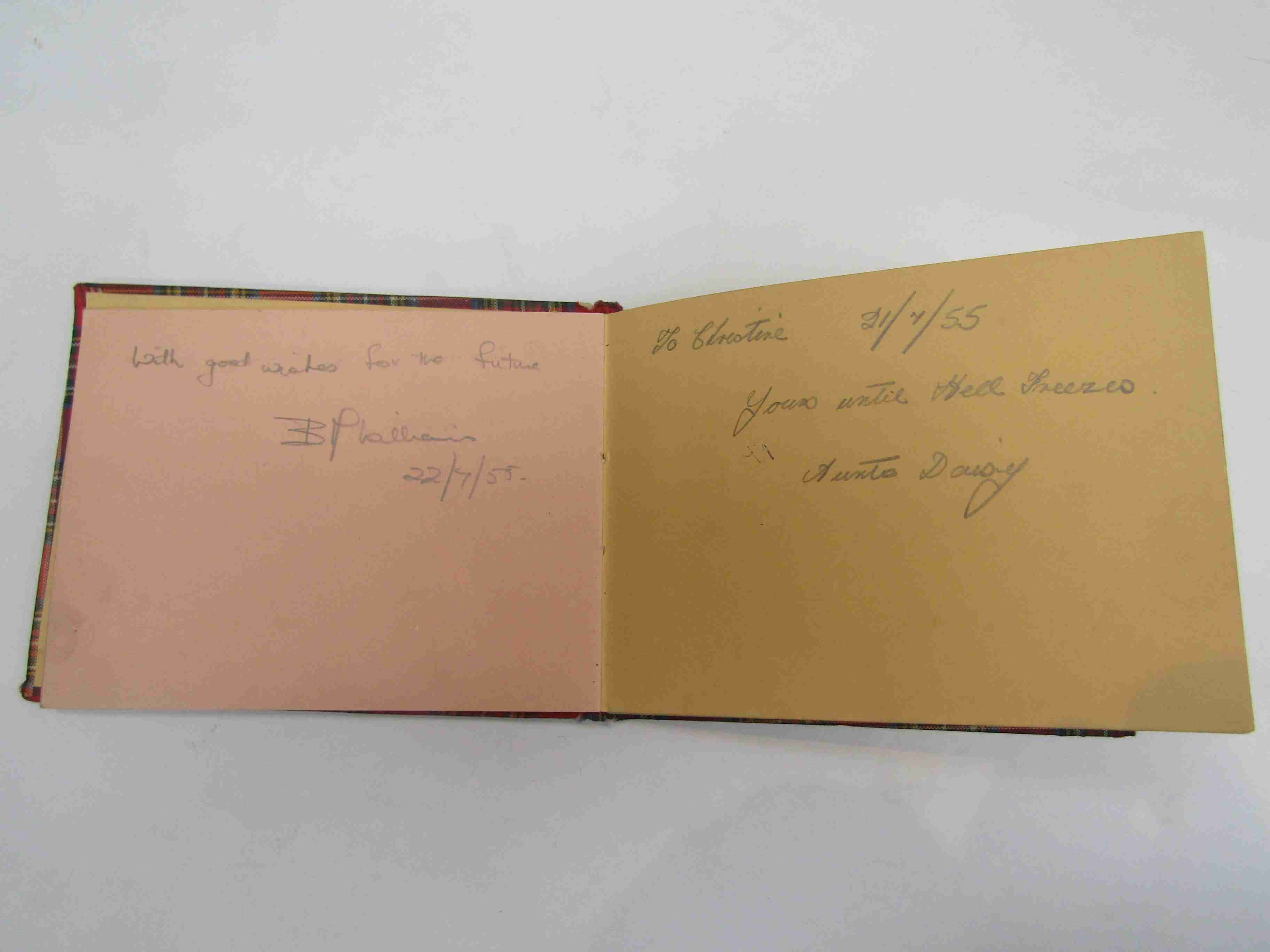Two 1950s/60s autograph books containing autographs by Benny Hill, Honor Blackman, Barbara Shelley, - Image 13 of 34