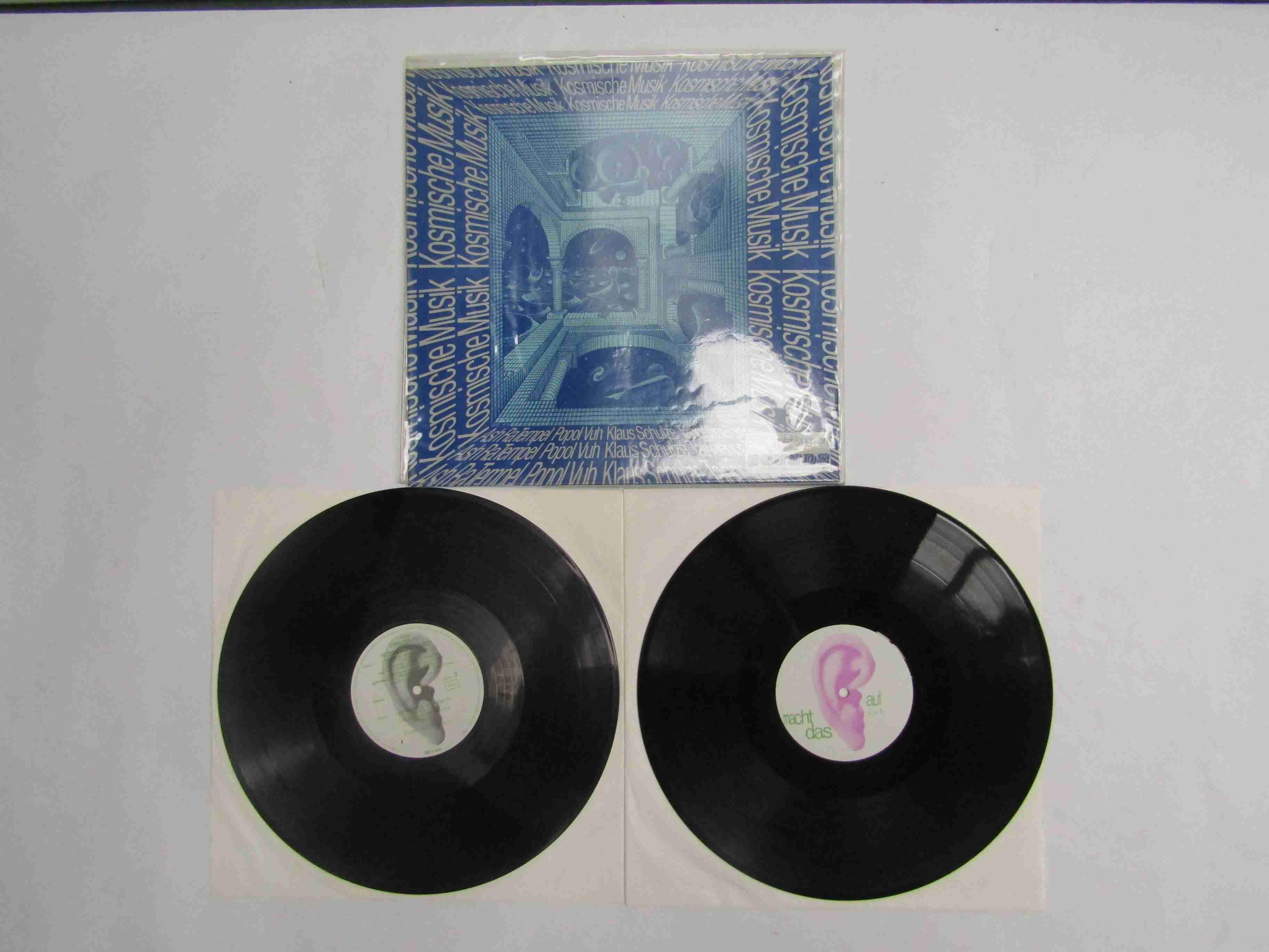 'Komische Musik' 2xLP Krautrock compilation featuring Popol Vuh, Klaus Schulze, Ash Ra,