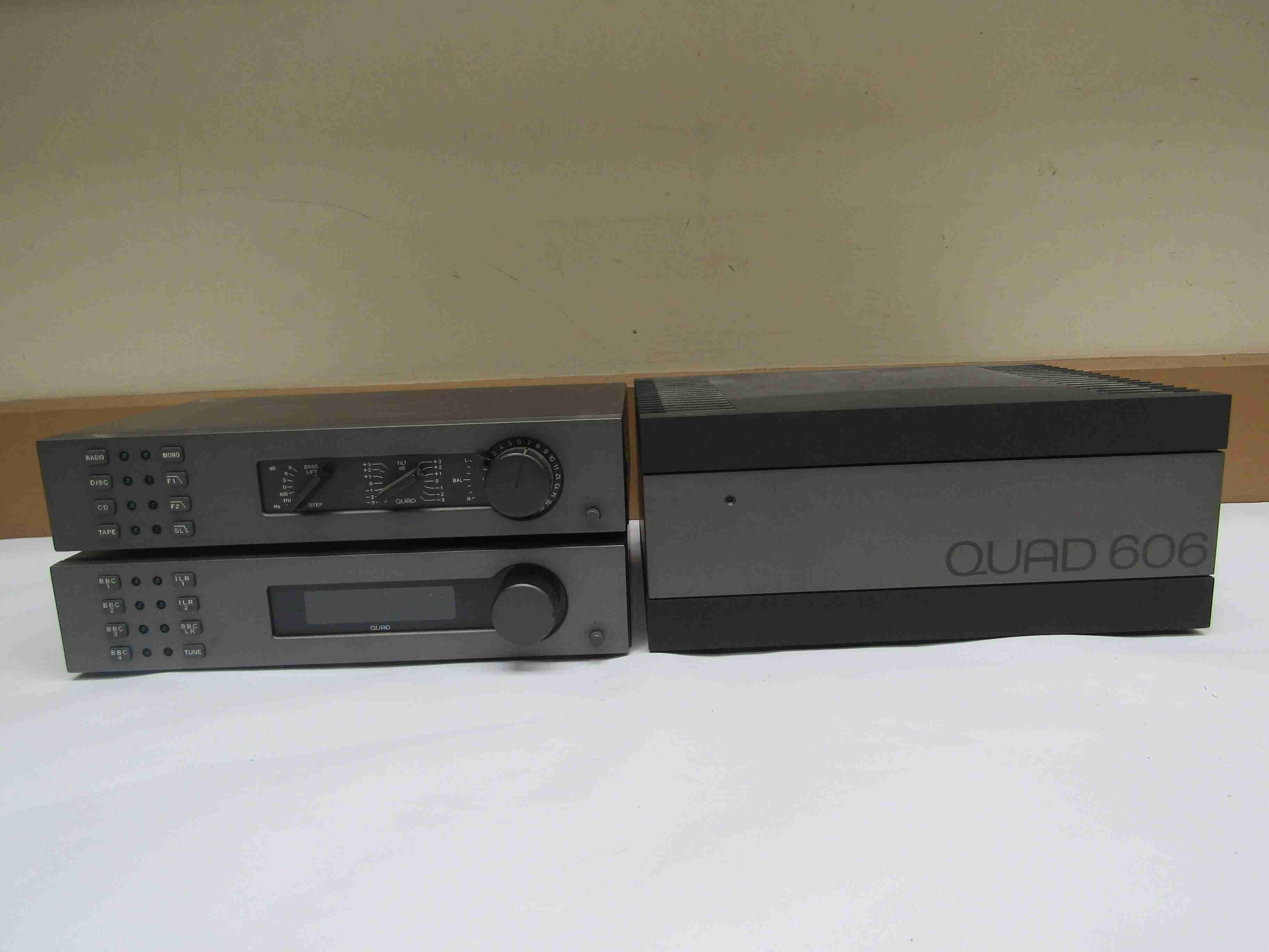 A Quad 606 power amplifier,