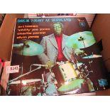 Twenty assorted Jazz drummer LP's including Buddy Rich, Art Blakey, Chico Hamilton, Joe Morello,