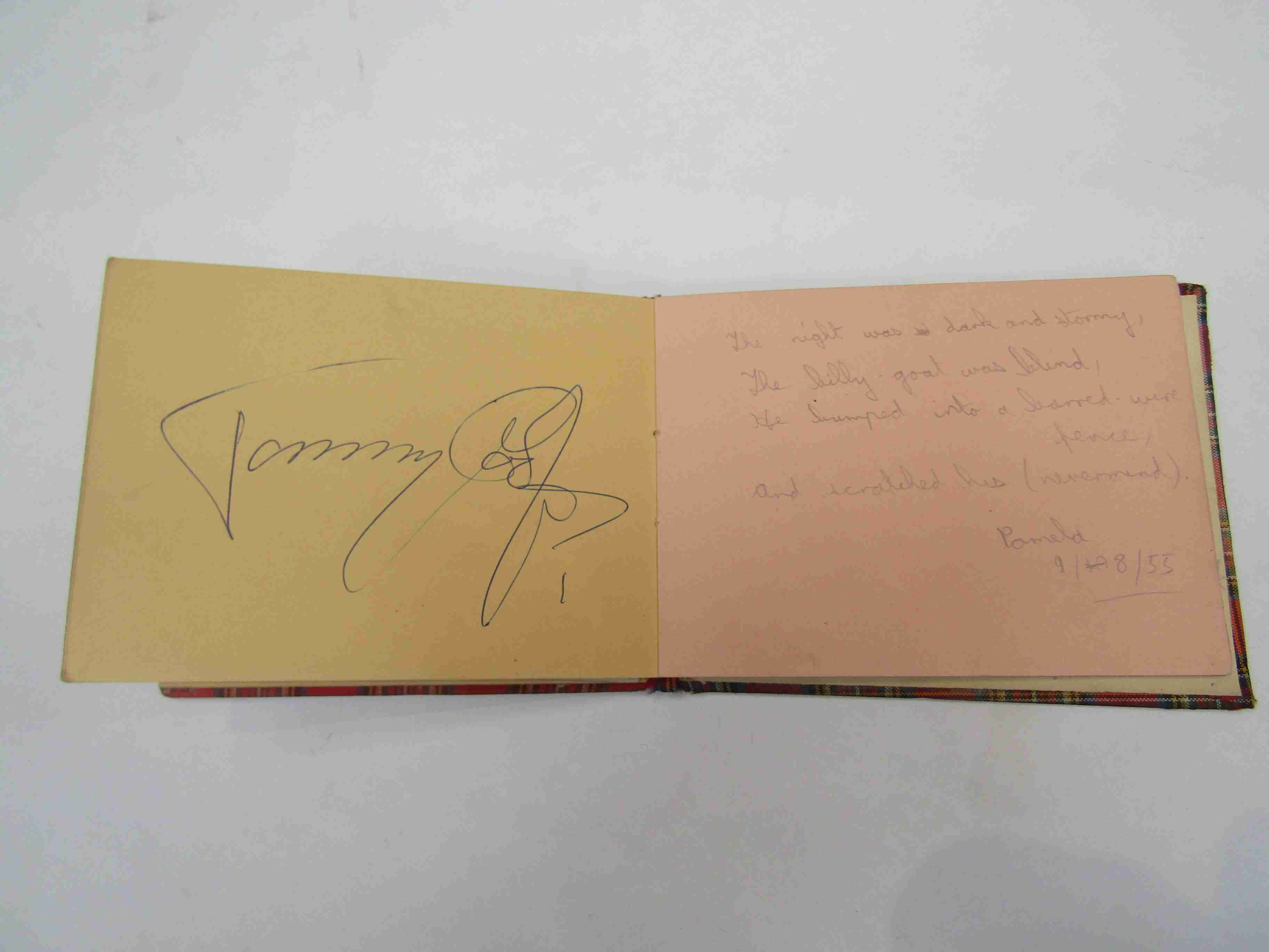 Two 1950s/60s autograph books containing autographs by Benny Hill, Honor Blackman, Barbara Shelley, - Image 29 of 34