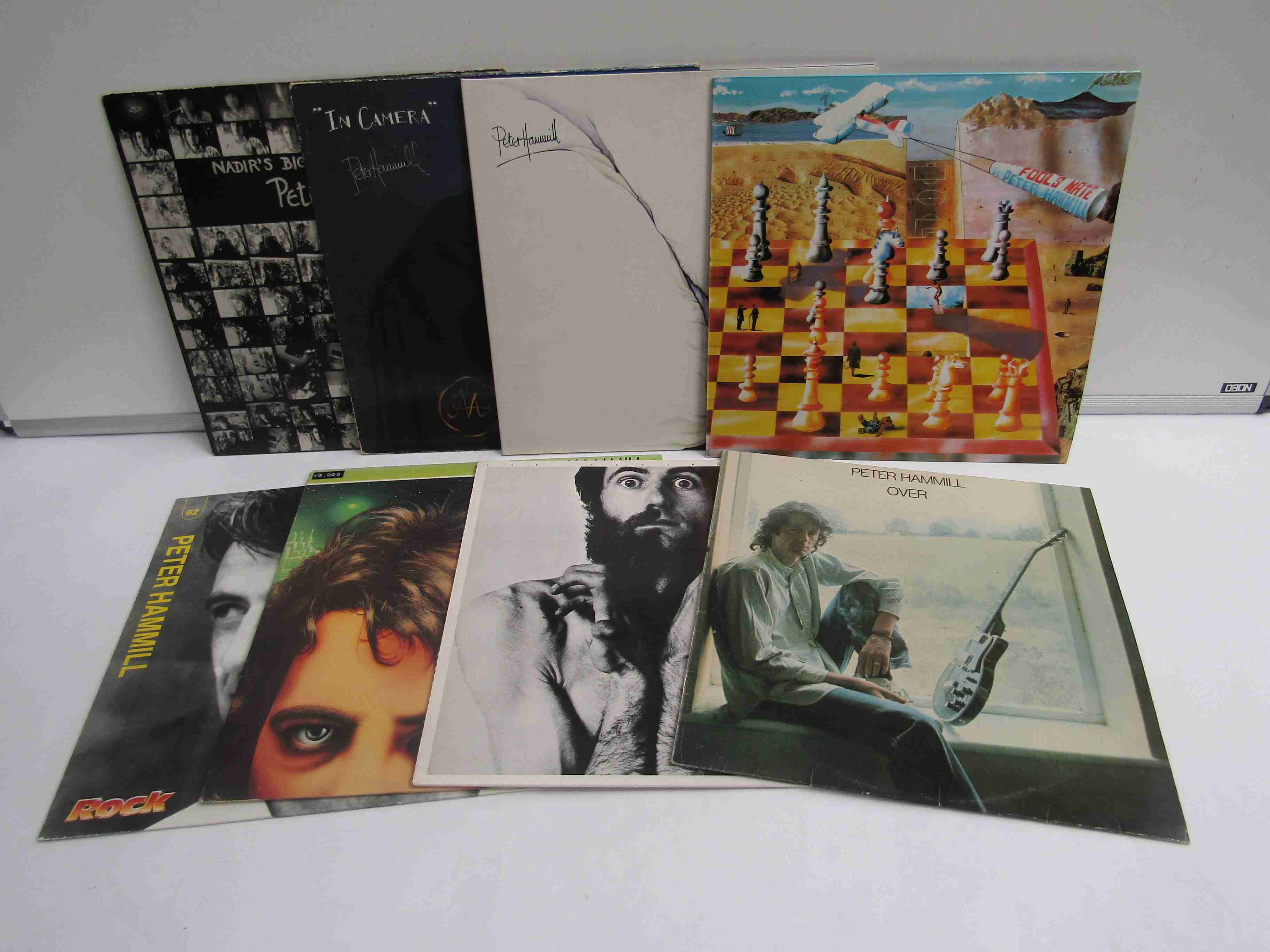 PETER HAMMILL: Eight LP's including 'The Future Now', 'Over', 'Nadir's Big Chance', 'In Camera',