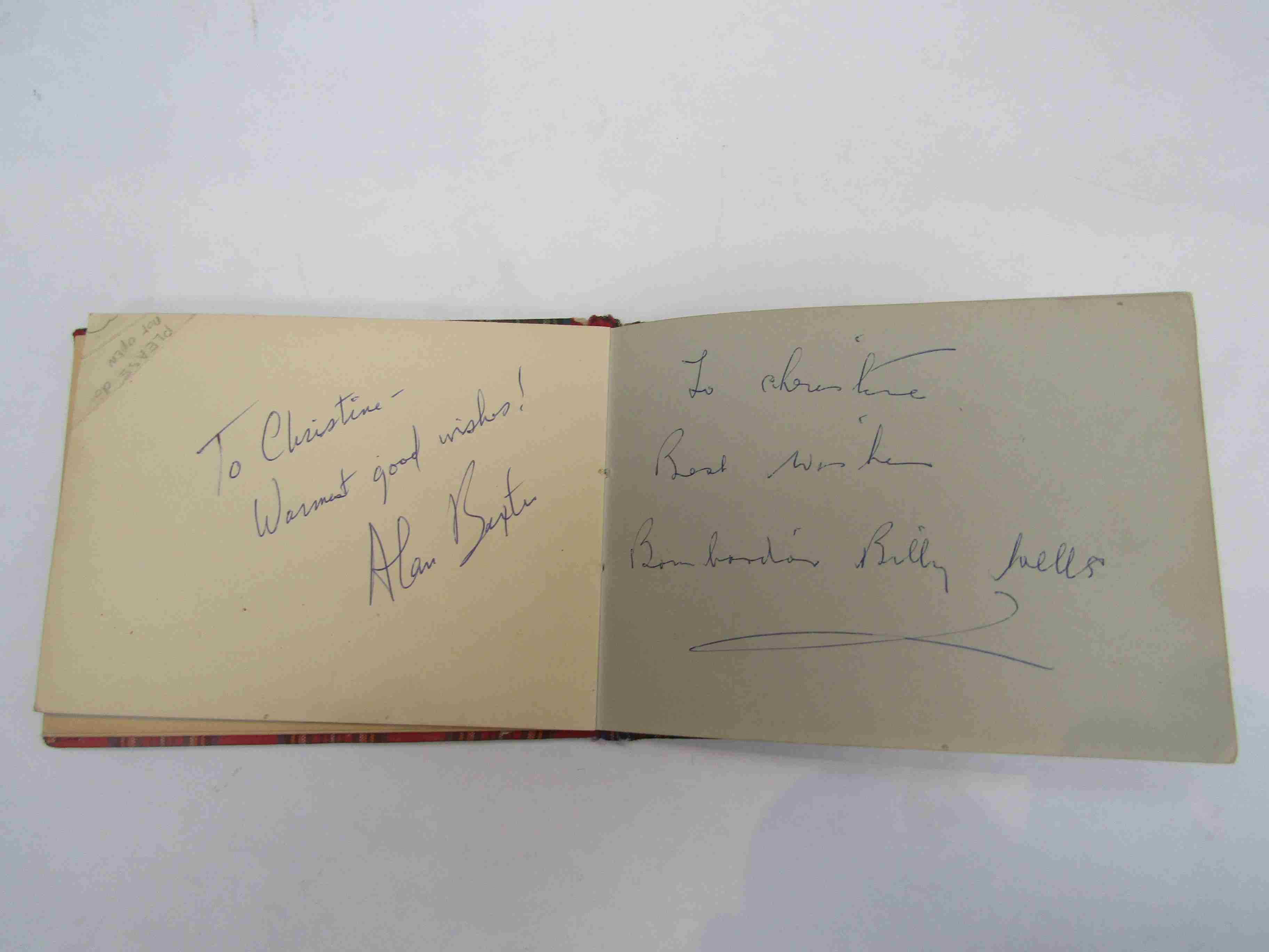 Two 1950s/60s autograph books containing autographs by Benny Hill, Honor Blackman, Barbara Shelley, - Image 22 of 34