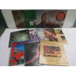 A collection of mixed Prog Rock, Hard Rock and other LPs including Tony McPhee, ZZ Top, Peter Green,