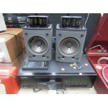 A Pioneer PD-S 801 CD player with remote and assorted cables including Audioquest and a pair of