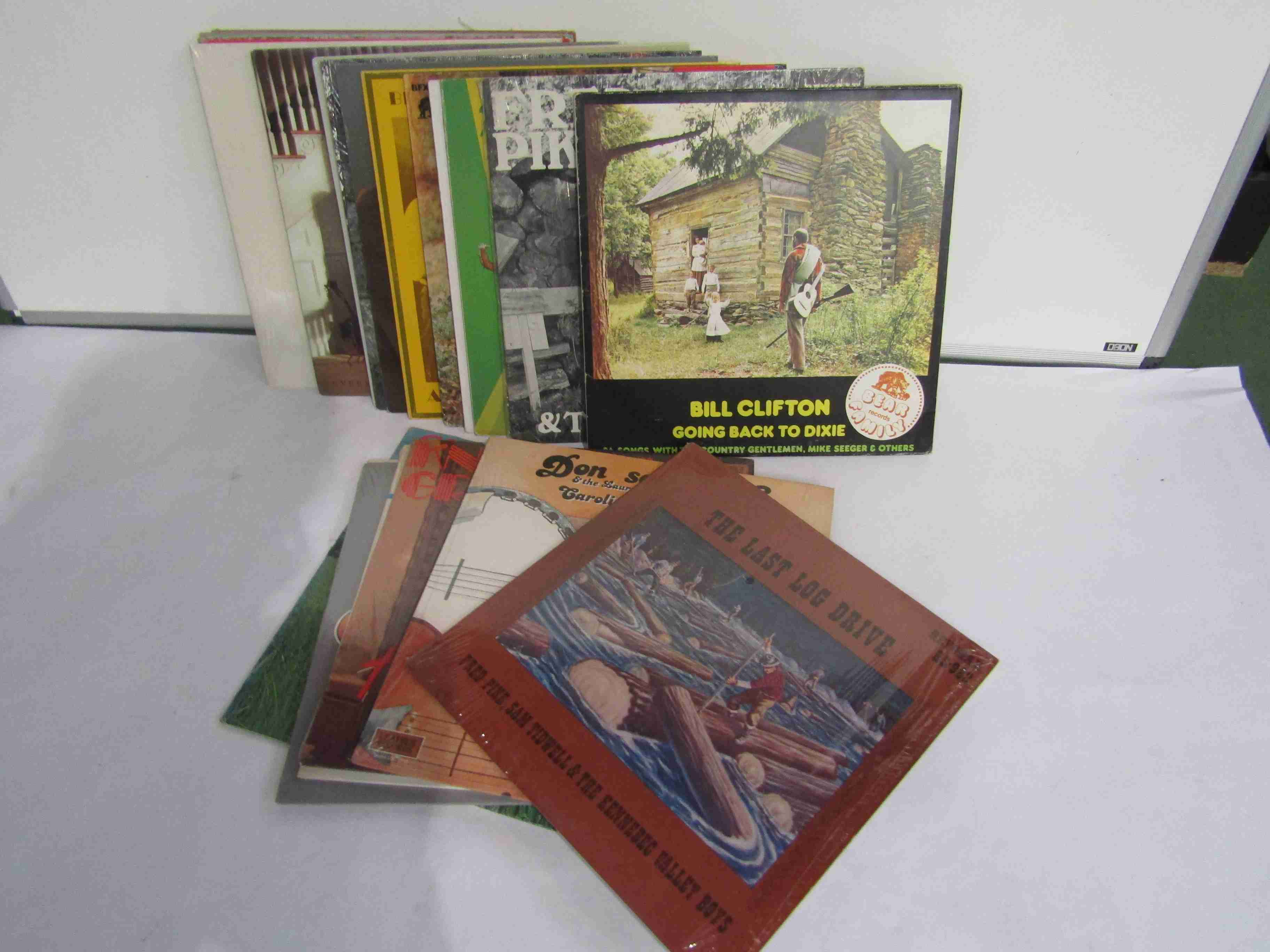 Twenty four assorted Country and Bluegrass LP's on the Bear Family Records, Webco,