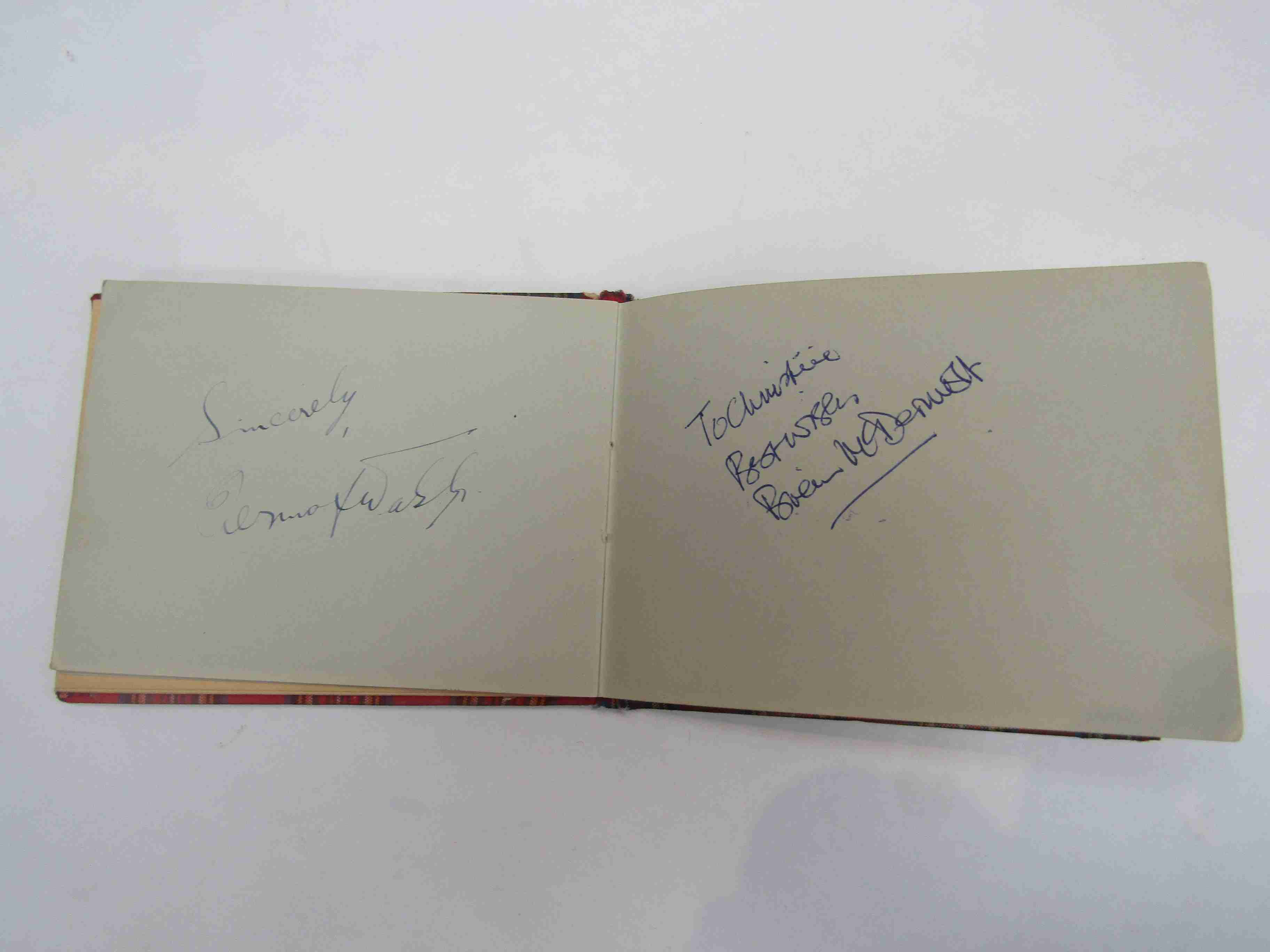 Two 1950s/60s autograph books containing autographs by Benny Hill, Honor Blackman, Barbara Shelley, - Image 23 of 34