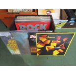 A box of Rock LP's including Pink Floyd,
