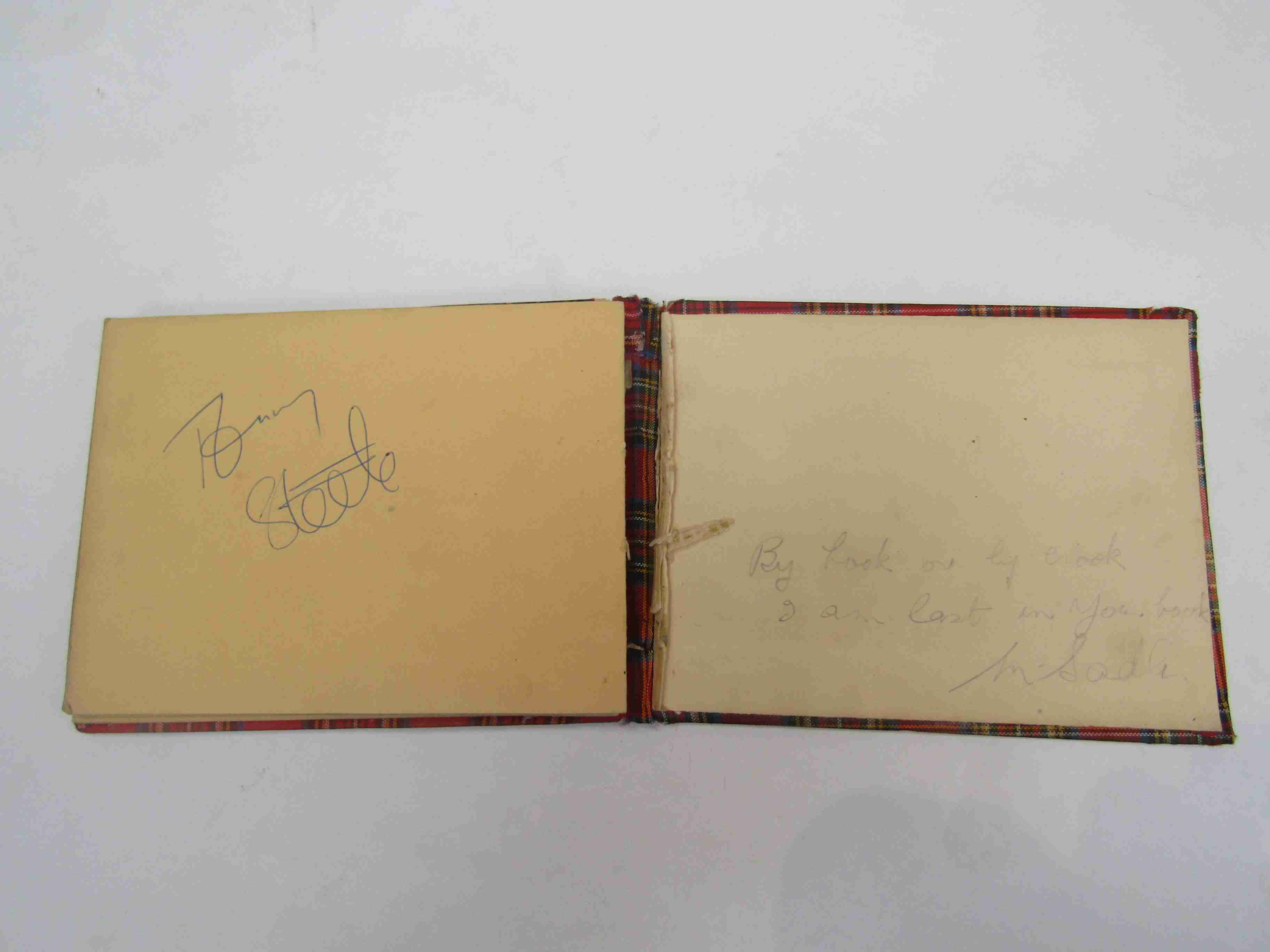 Two 1950s/60s autograph books containing autographs by Benny Hill, Honor Blackman, Barbara Shelley, - Image 34 of 34