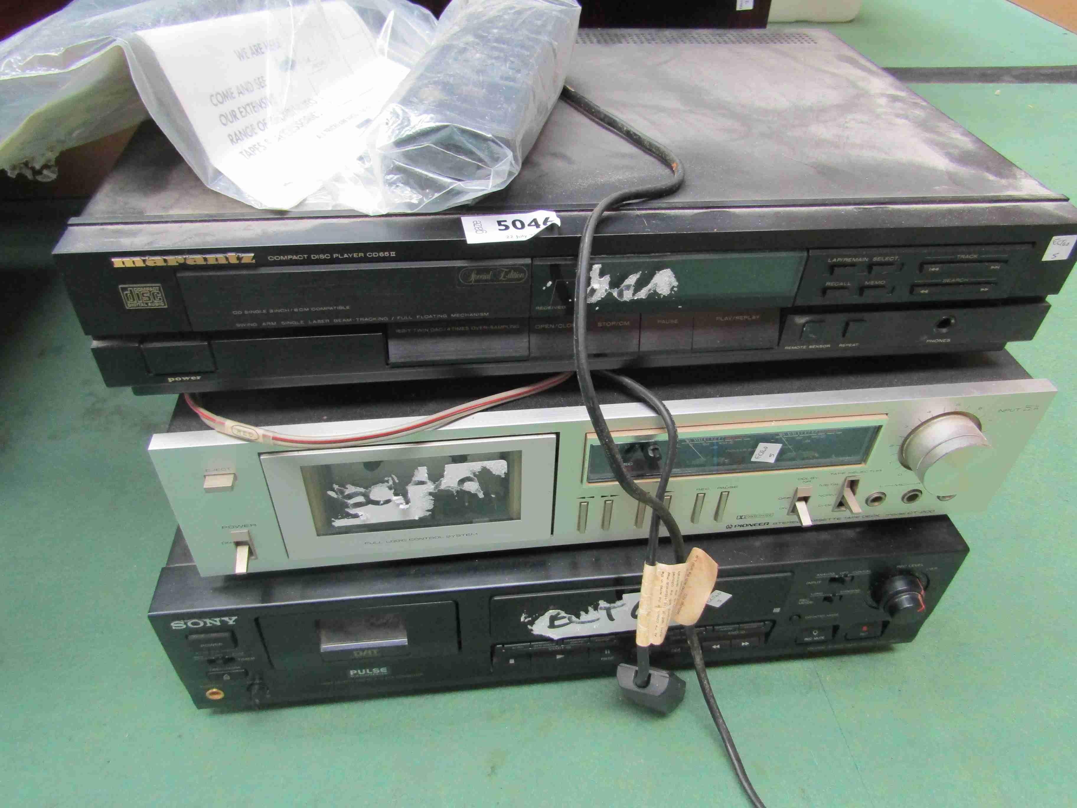 A Marantz CD65II compact disc player,