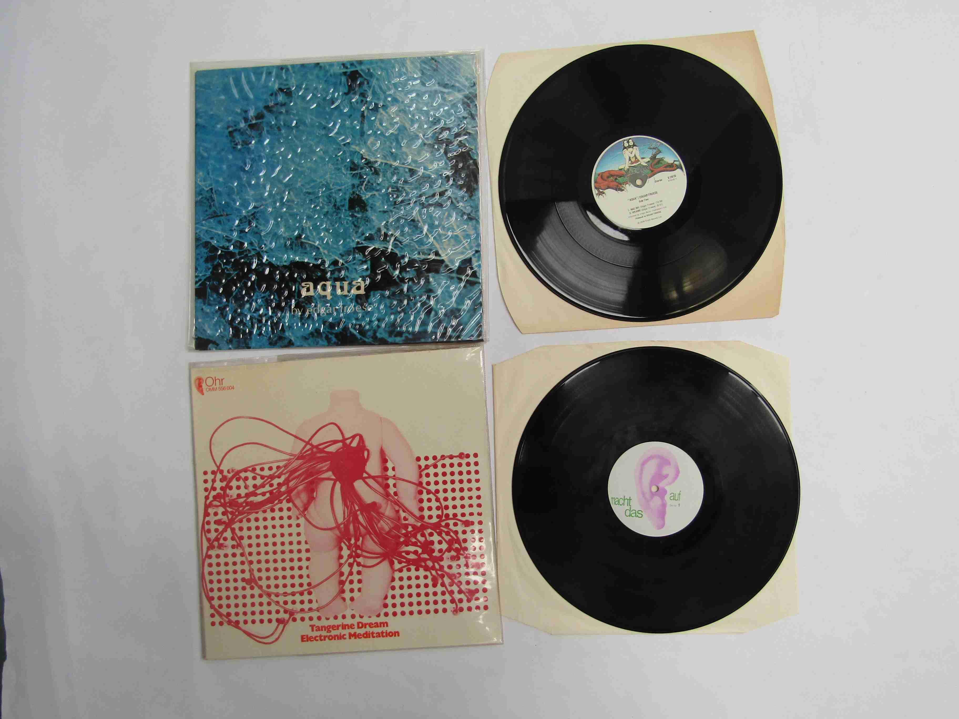 TANGERINE DREAM: 'Electronic Meditation' LP, German reissue,