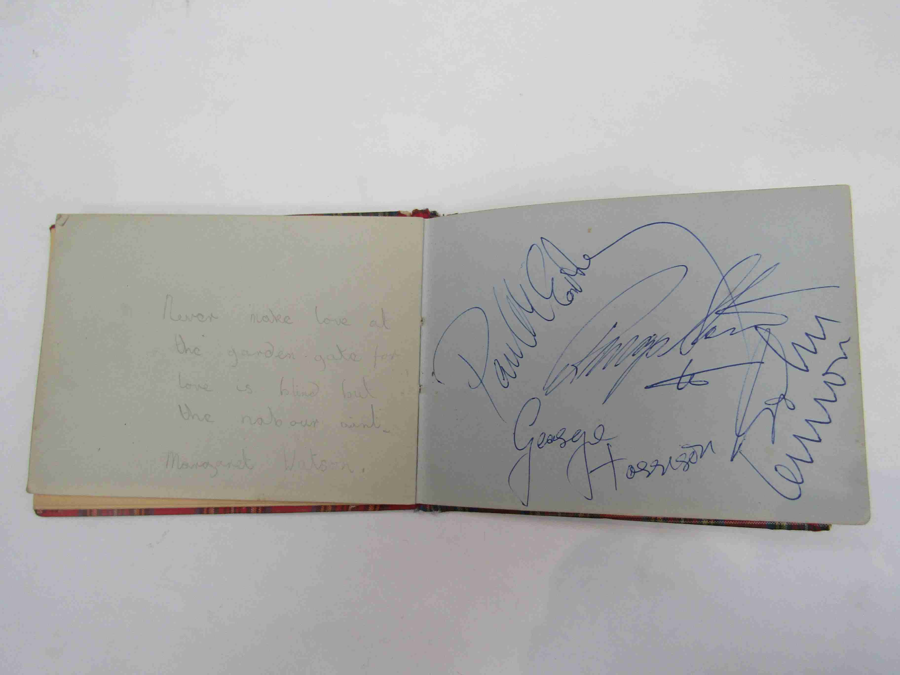 Two 1950s/60s autograph books containing autographs by Benny Hill, Honor Blackman, Barbara Shelley, - Image 25 of 34
