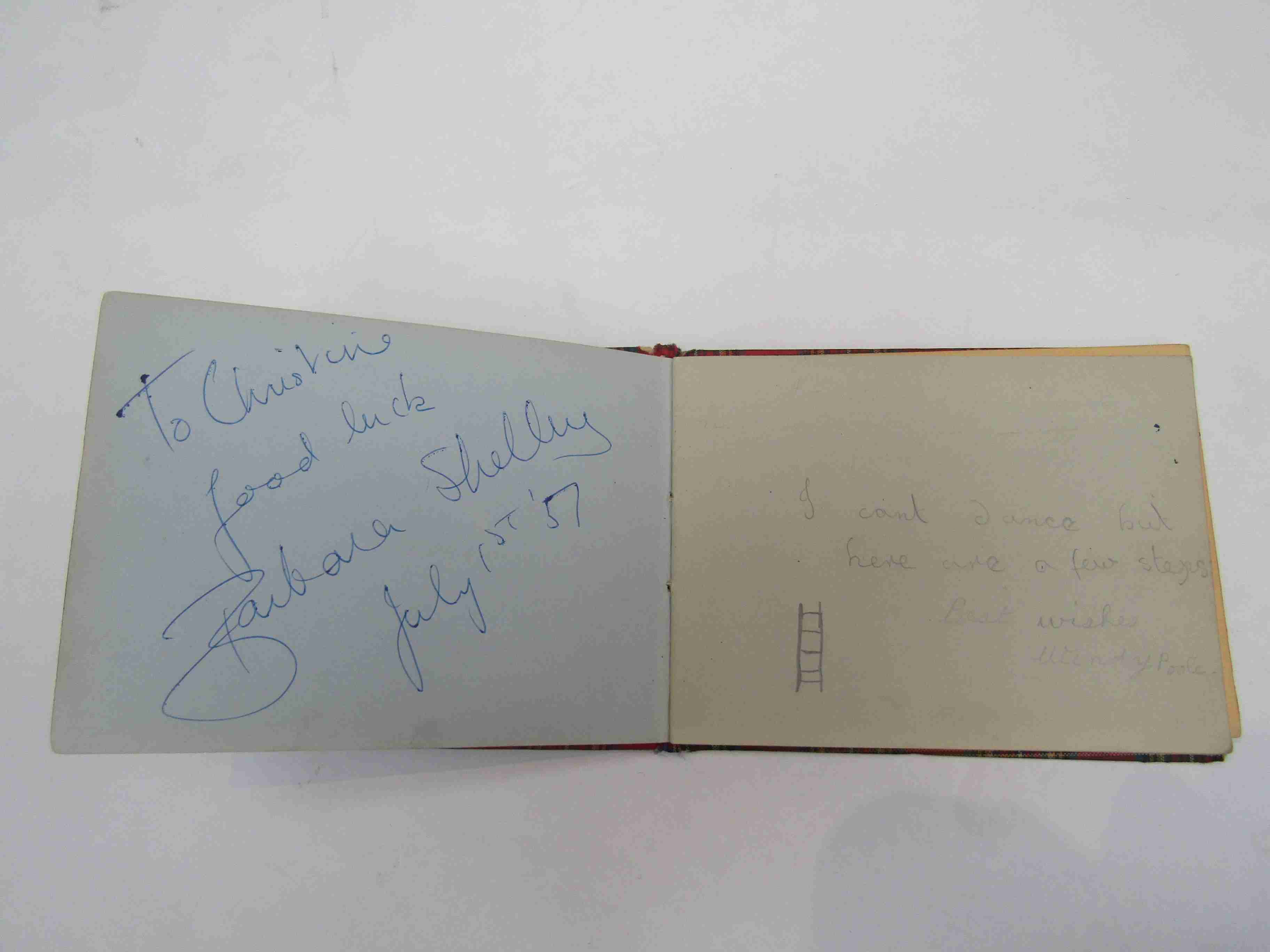Two 1950s/60s autograph books containing autographs by Benny Hill, Honor Blackman, Barbara Shelley, - Image 17 of 34