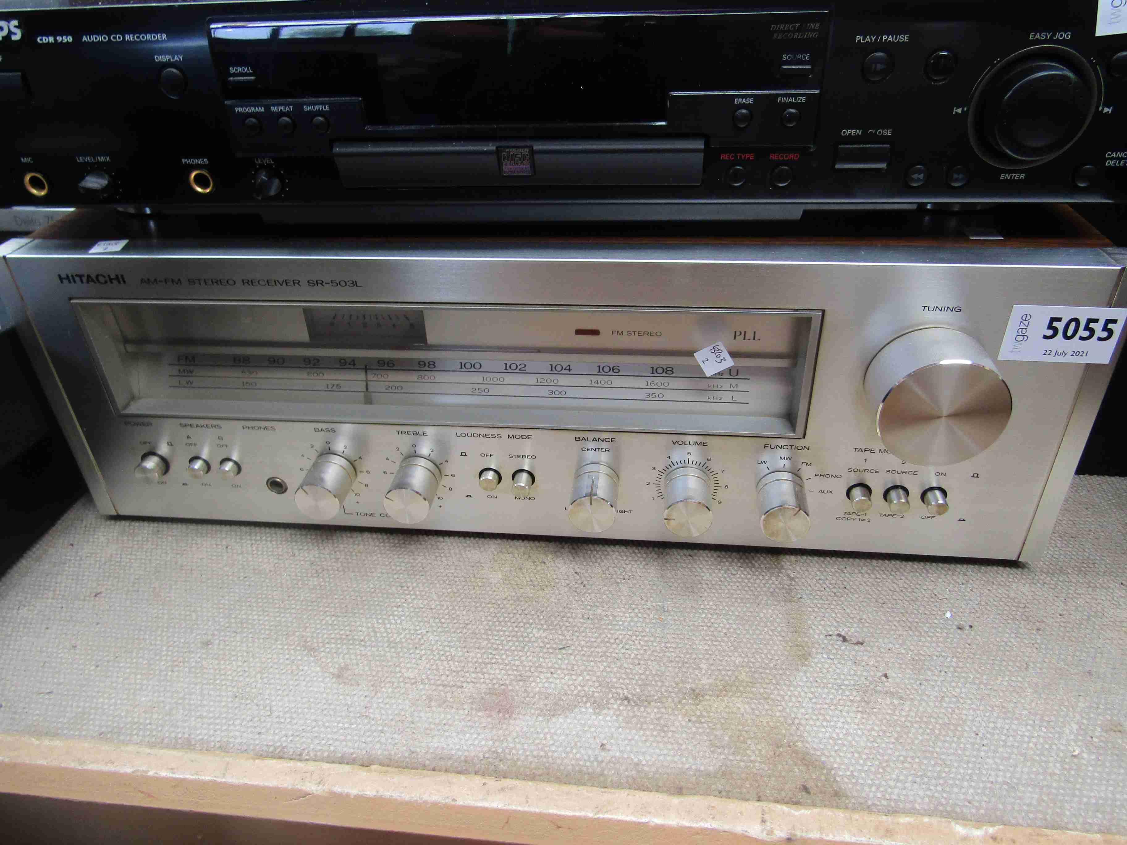 A Hitachi SR 503-L stereo reciever