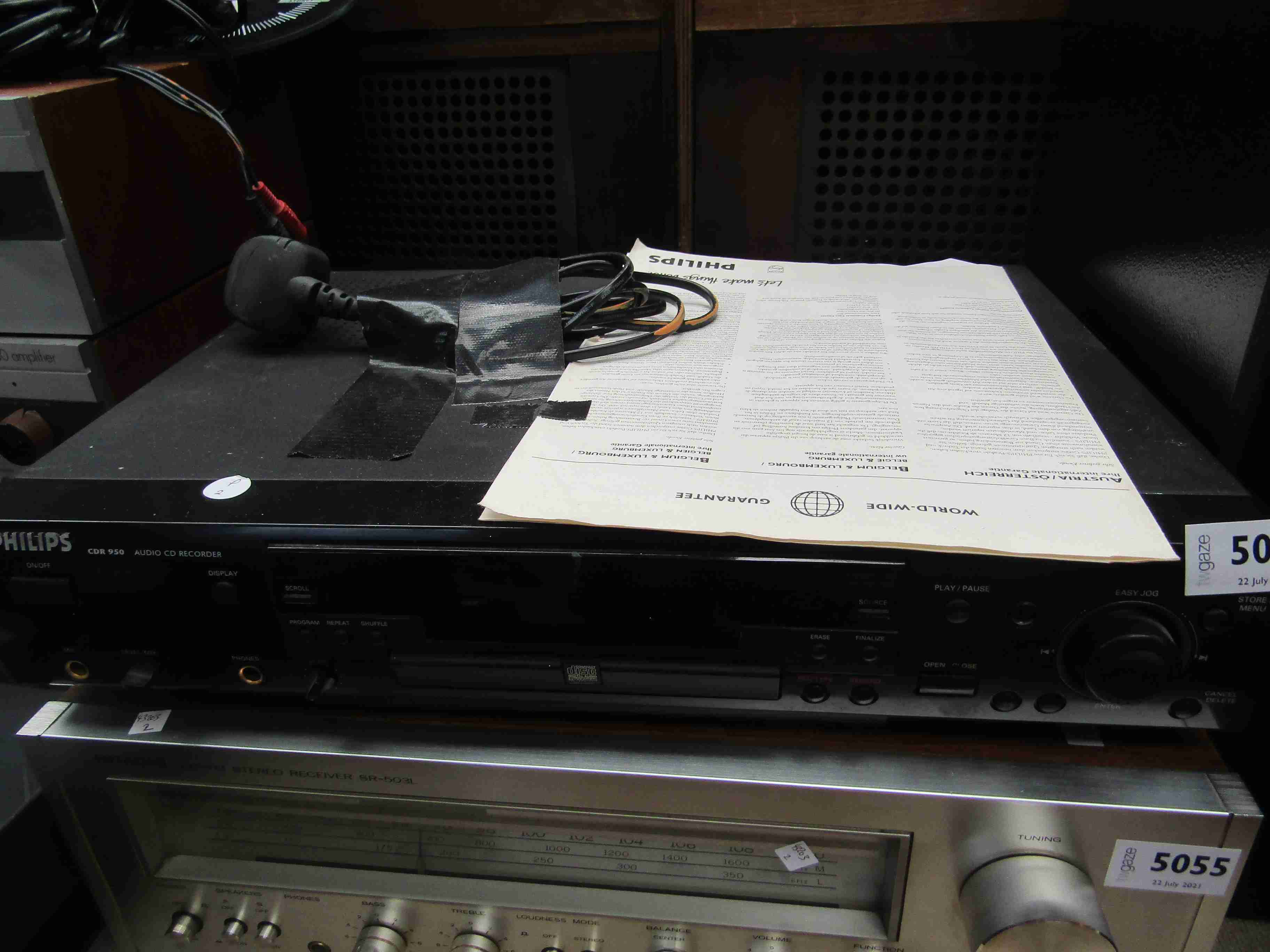 A Philips CDR 950 audio CD recorder