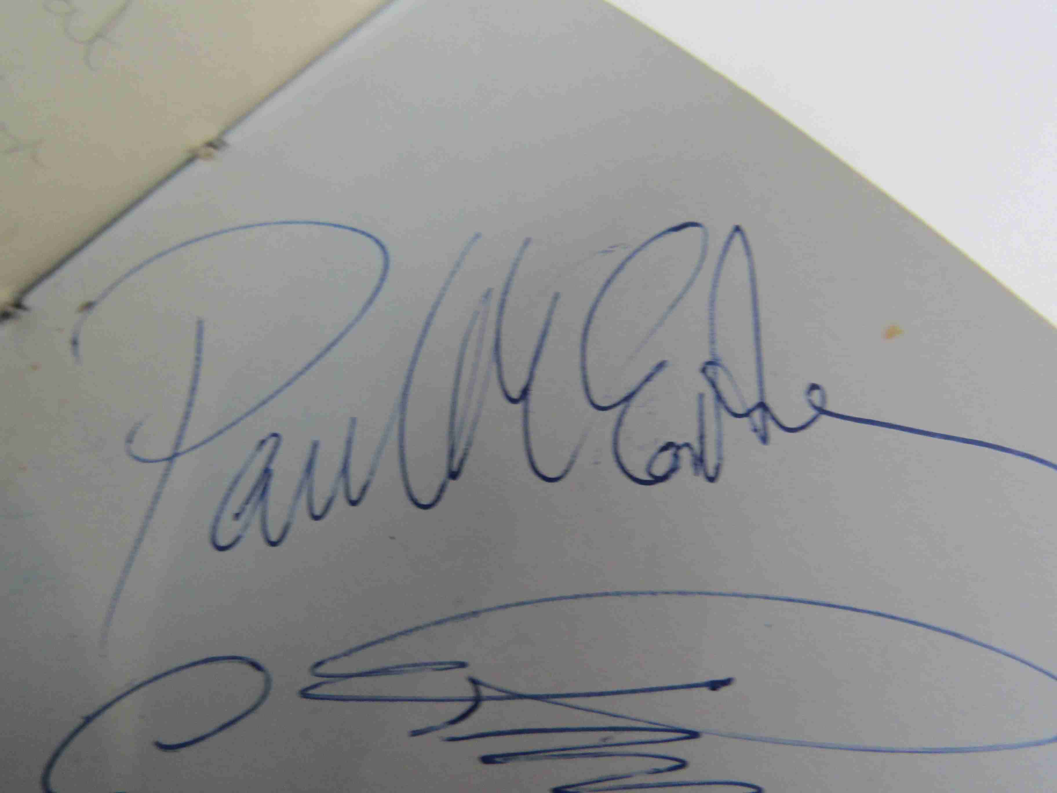 Two 1950s/60s autograph books containing autographs by Benny Hill, Honor Blackman, Barbara Shelley, - Image 3 of 34