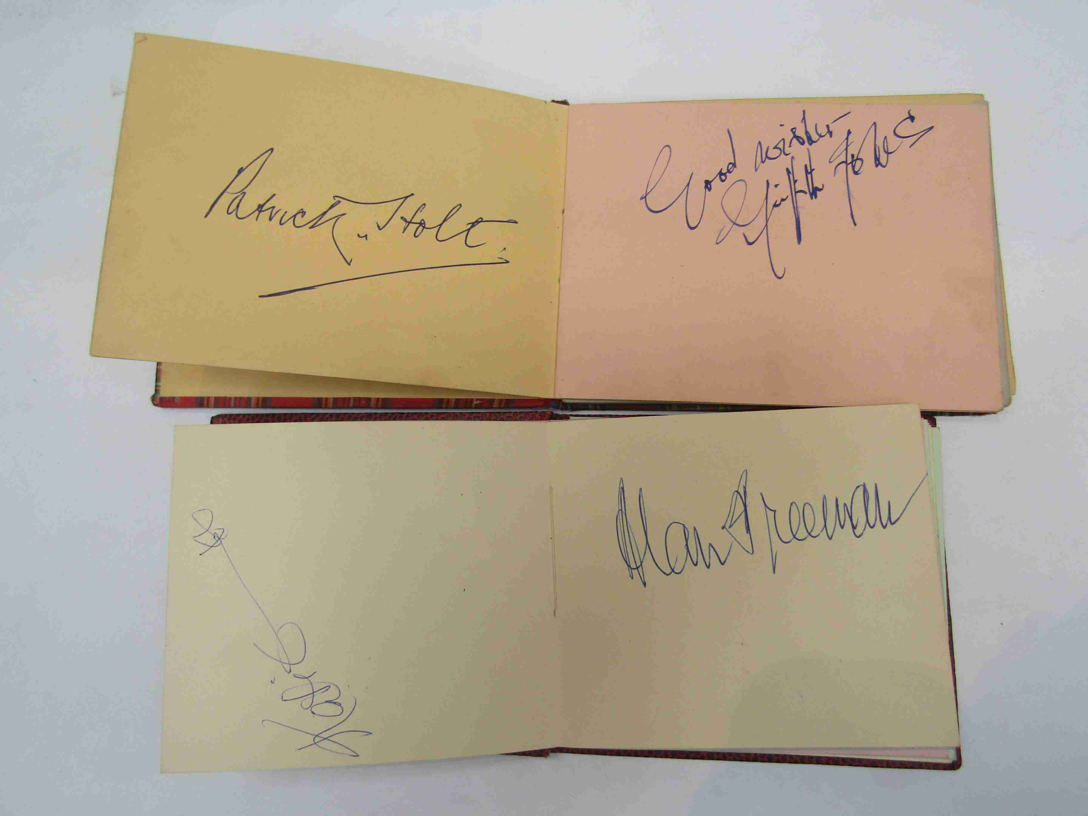 Two 1950s/60s autograph books containing autographs by Benny Hill, Honor Blackman, Barbara Shelley, - Image 9 of 34