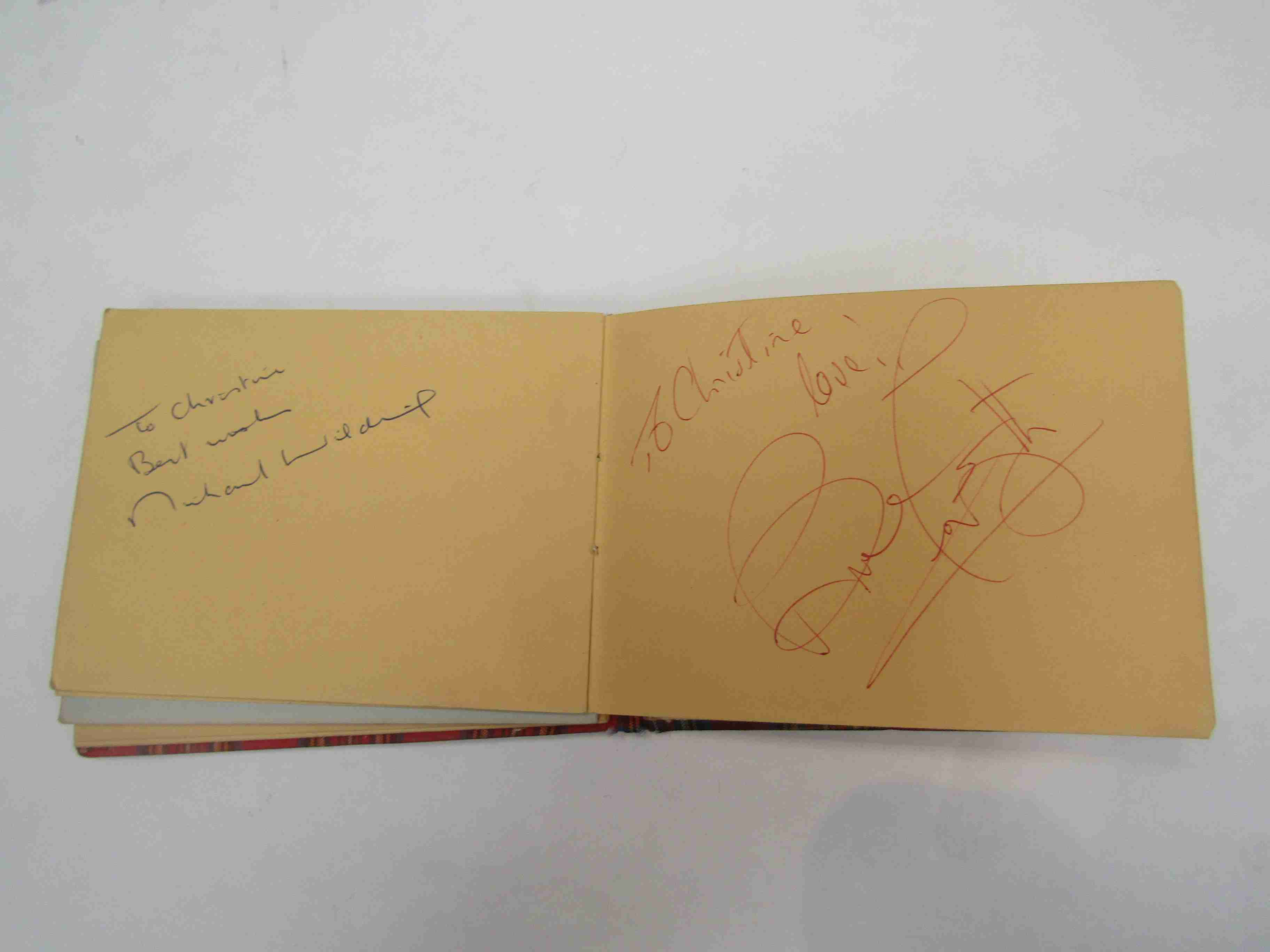 Two 1950s/60s autograph books containing autographs by Benny Hill, Honor Blackman, Barbara Shelley, - Image 33 of 34
