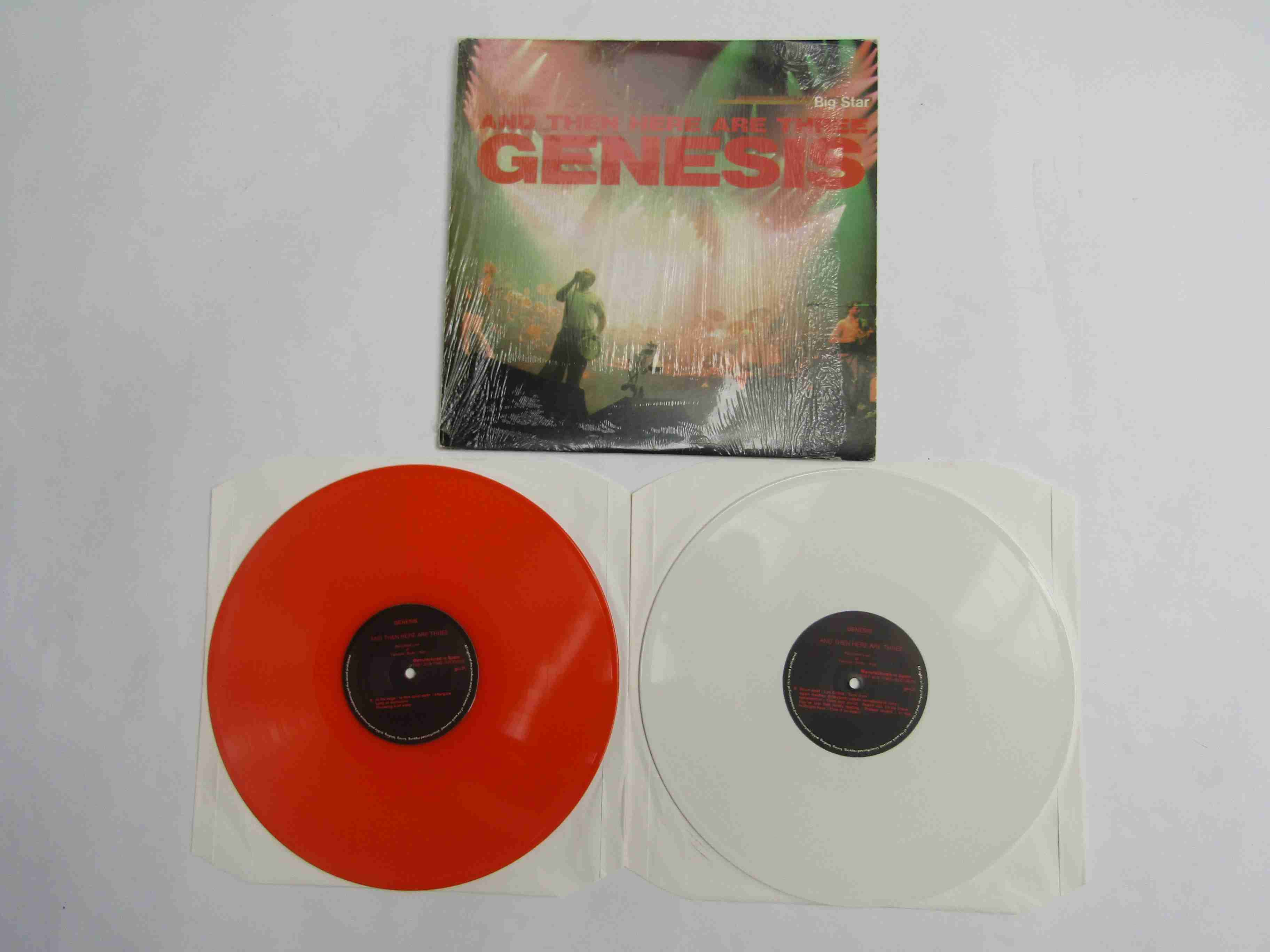 GENESIS: 'And Then Here Are Three 2xLP unofficial release on orange and white vinyl (media and