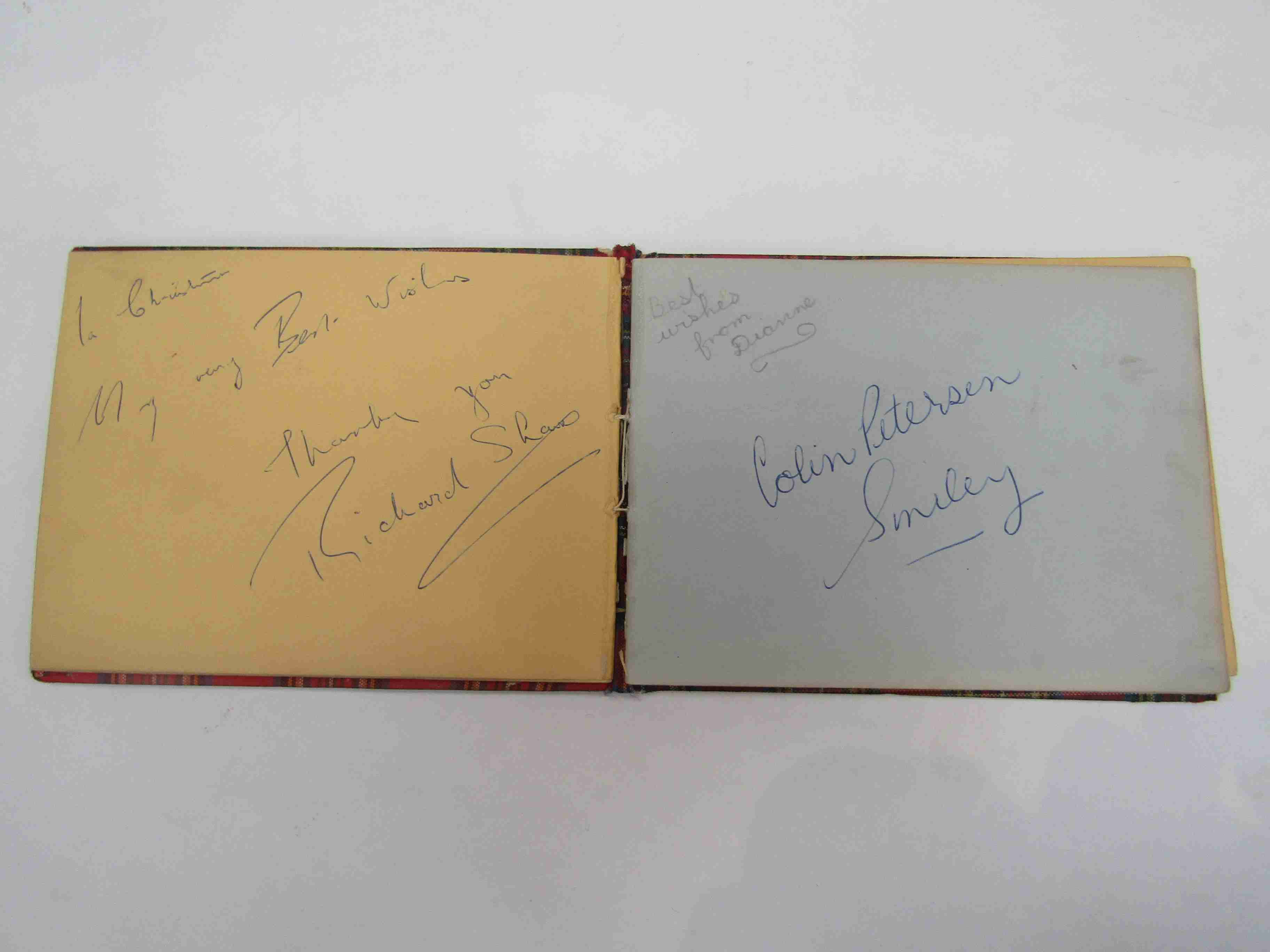 Two 1950s/60s autograph books containing autographs by Benny Hill, Honor Blackman, Barbara Shelley, - Image 16 of 34