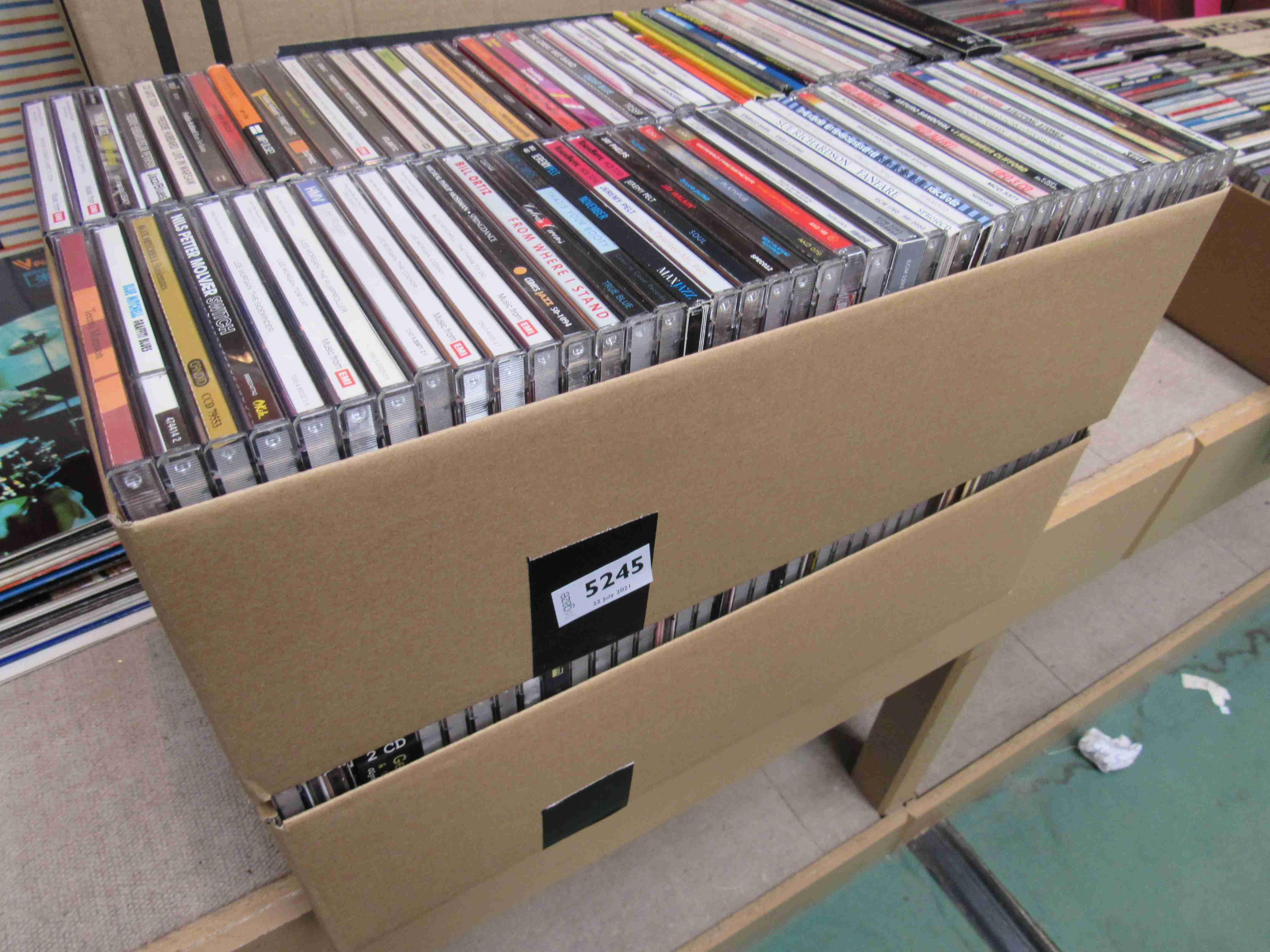 Approx 180 Jazz CD's including Dexter Gordon, Wardell Gray, Scott Hamilton, Donal Harrison,