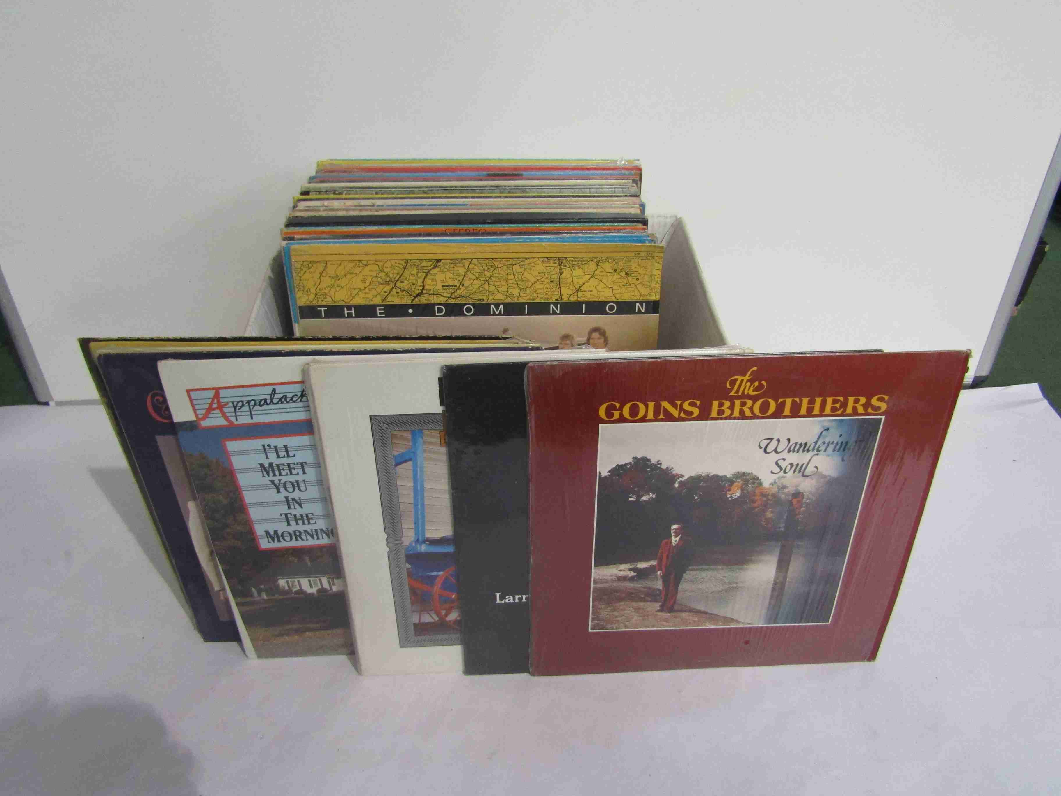 Fifty four Country and Bluegrass LP's on the Rebel Records label including Del McCoury And The