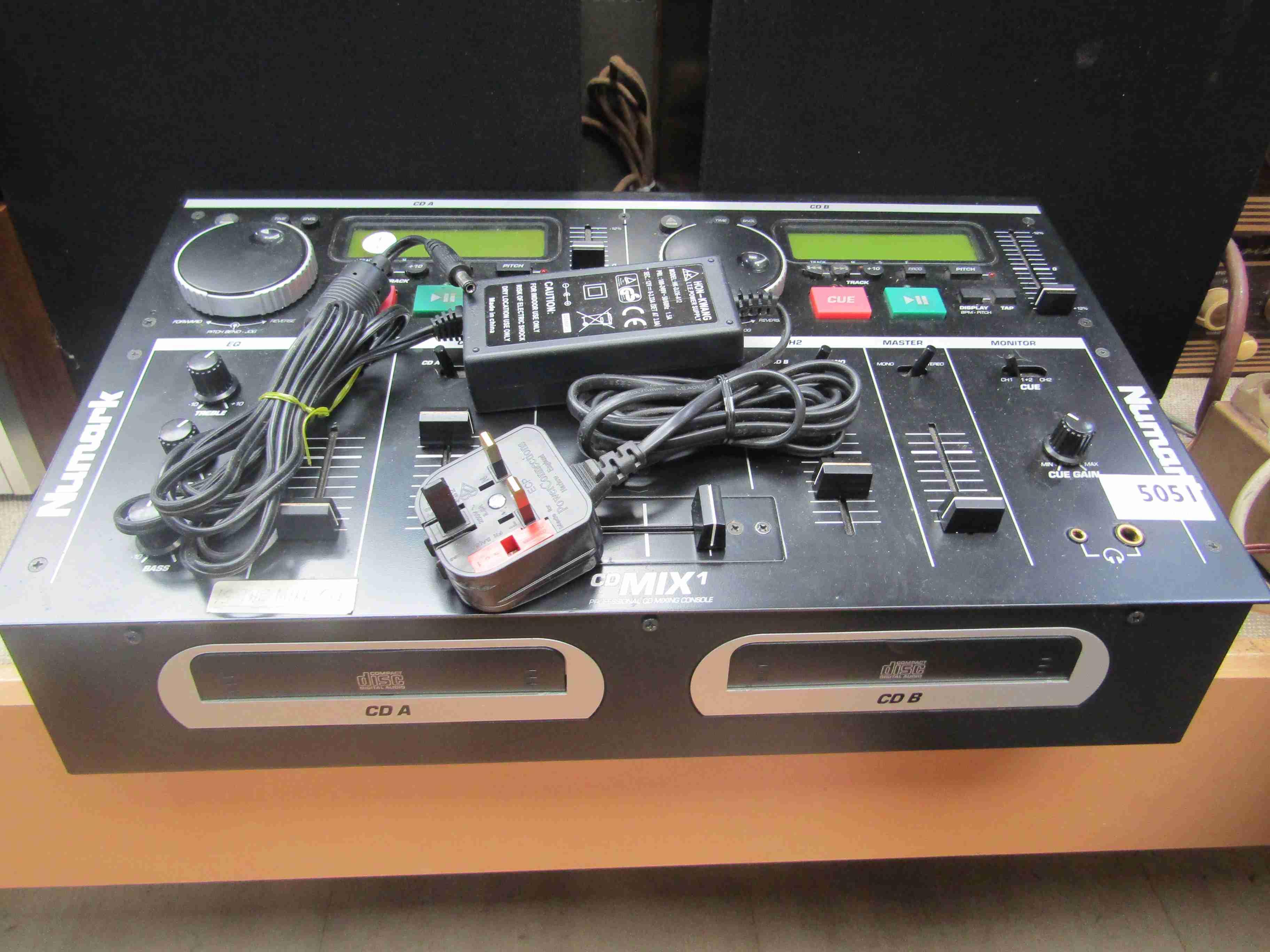 A Numark CDMIX1 professional CD mixing console