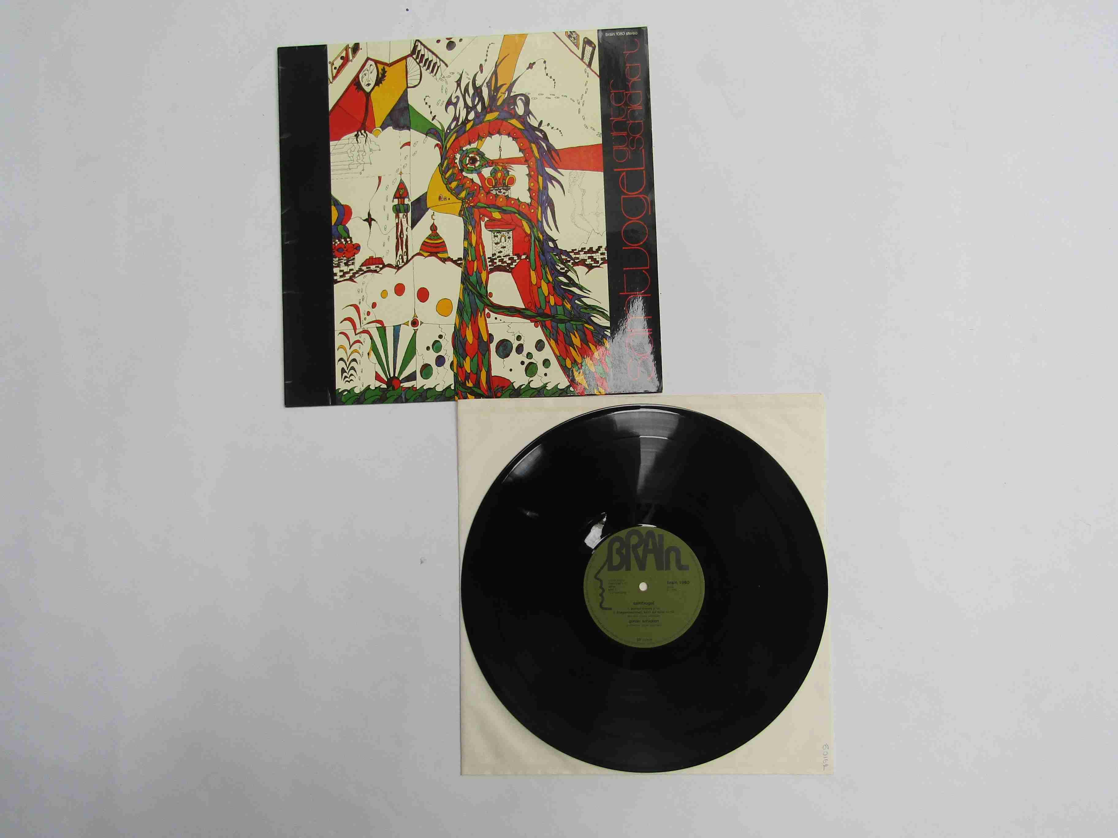 GUNTER SCHICKERT: 'Samtvogel' LP, 1976 German reissue on Brain Records brain 1080 (media VG+/EX,