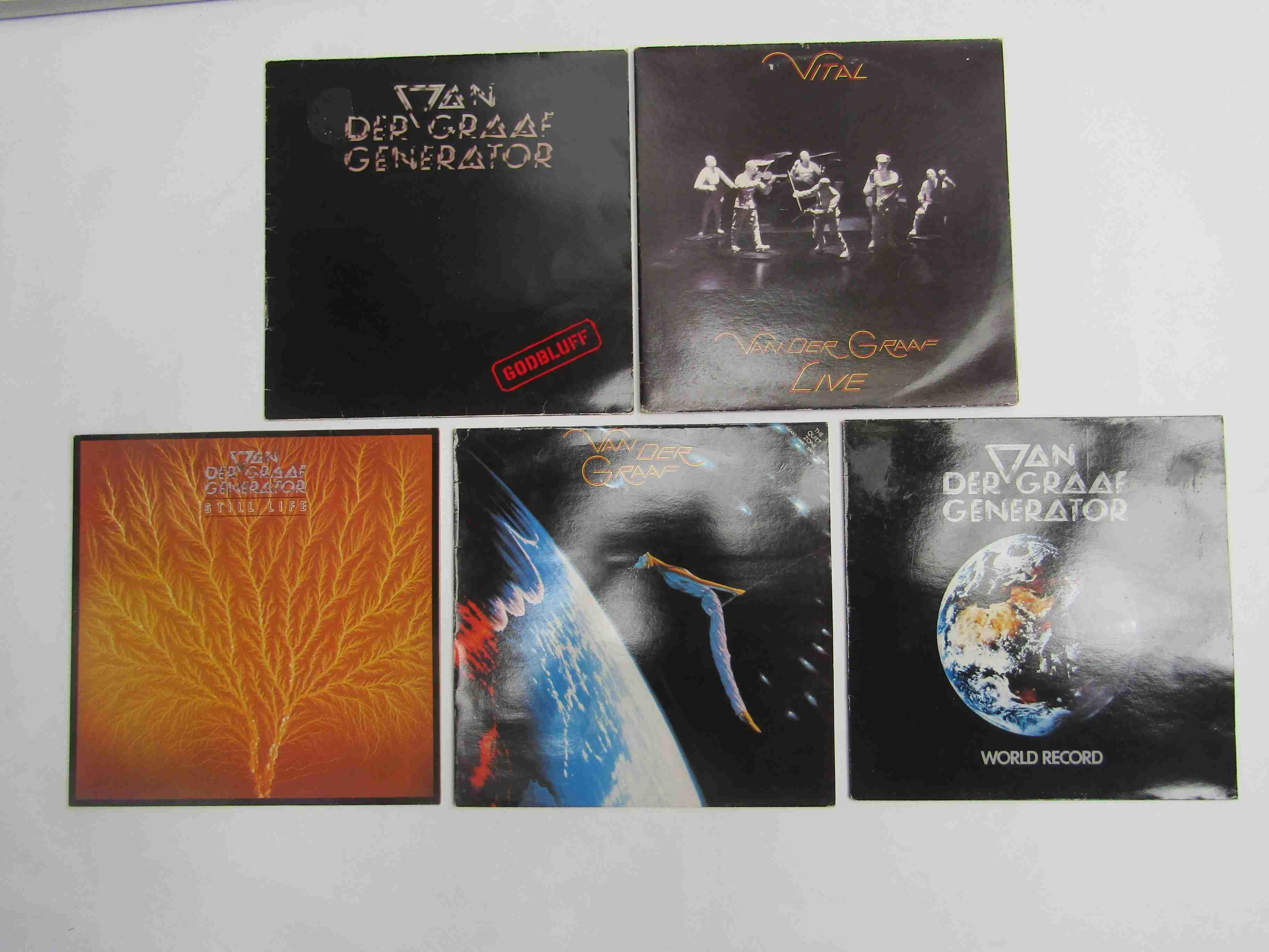 VAN DER GRAAF GENERATOR: Five LP's including 'Godbluff', 'Still Life', 'World Record',