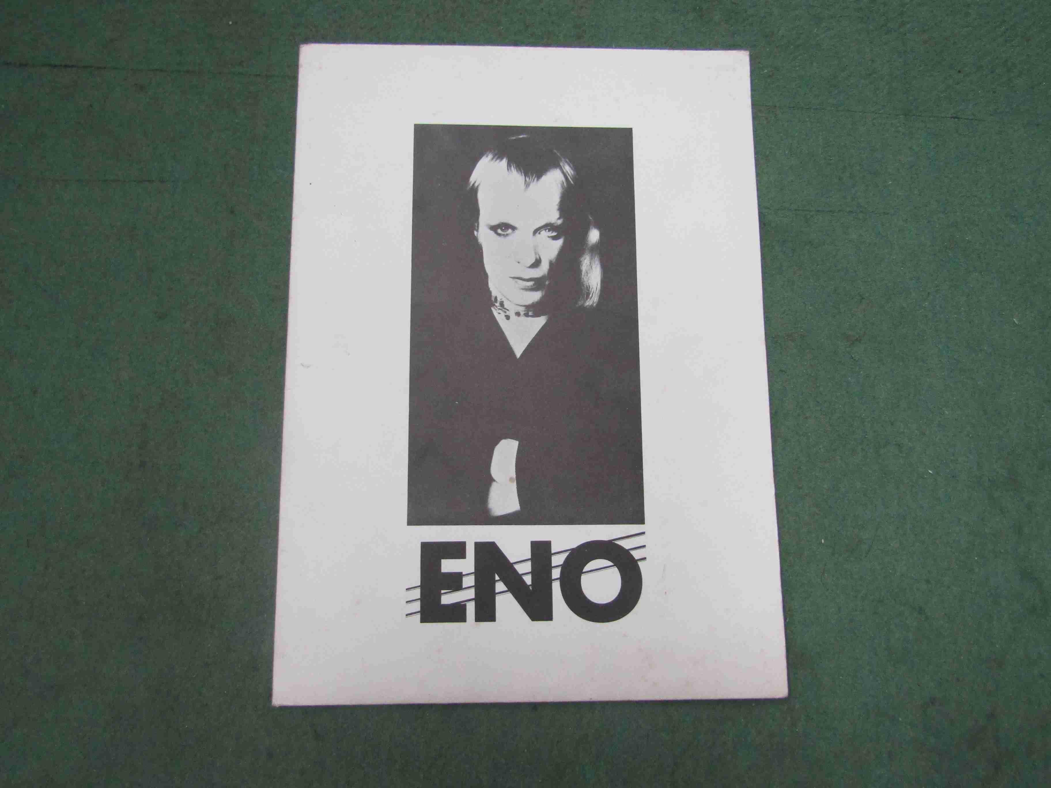 BRIAN ENO: An Island Records Eno press kit including promo photograph,