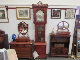 A 20th Century Moathe of Germany longcase clock with Eastern stylised case
