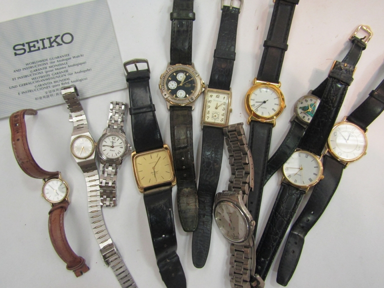 A quantity of wristwatches including Tissot & Seiko