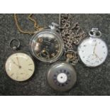Four 19th and 20th Century pocket watches - Vertex,