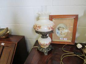 A decorative electric oil lamp