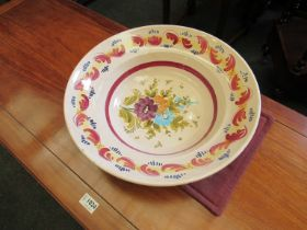 An Italian pottery bowl with floral design,