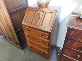 An old charm oak slim bureau,