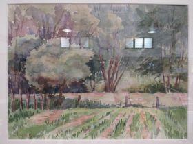 OWEN BOWEN: 'Landscape - Yorkshire', signed watercolour, gilt framed and glazed,
